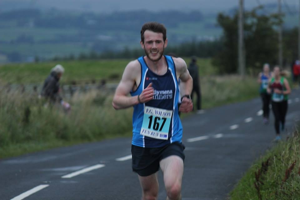James Hamilton was first from Ballymena, and second overall, at the Inter-Club race.