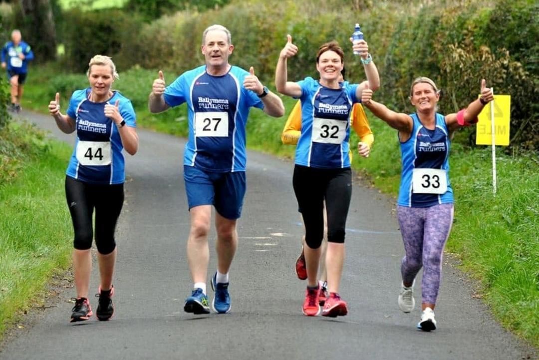 Stephanie Johnston, Maurice McGarry, Sharon McClung and Heather McKelvey enjoying the Kells Half Marathon