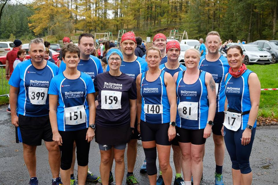 Ballymena Runners at the Fergal's 10-Miler in Davagh Forest