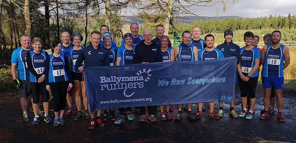 Ballymena Runners line-up before tackling Davagh Forest