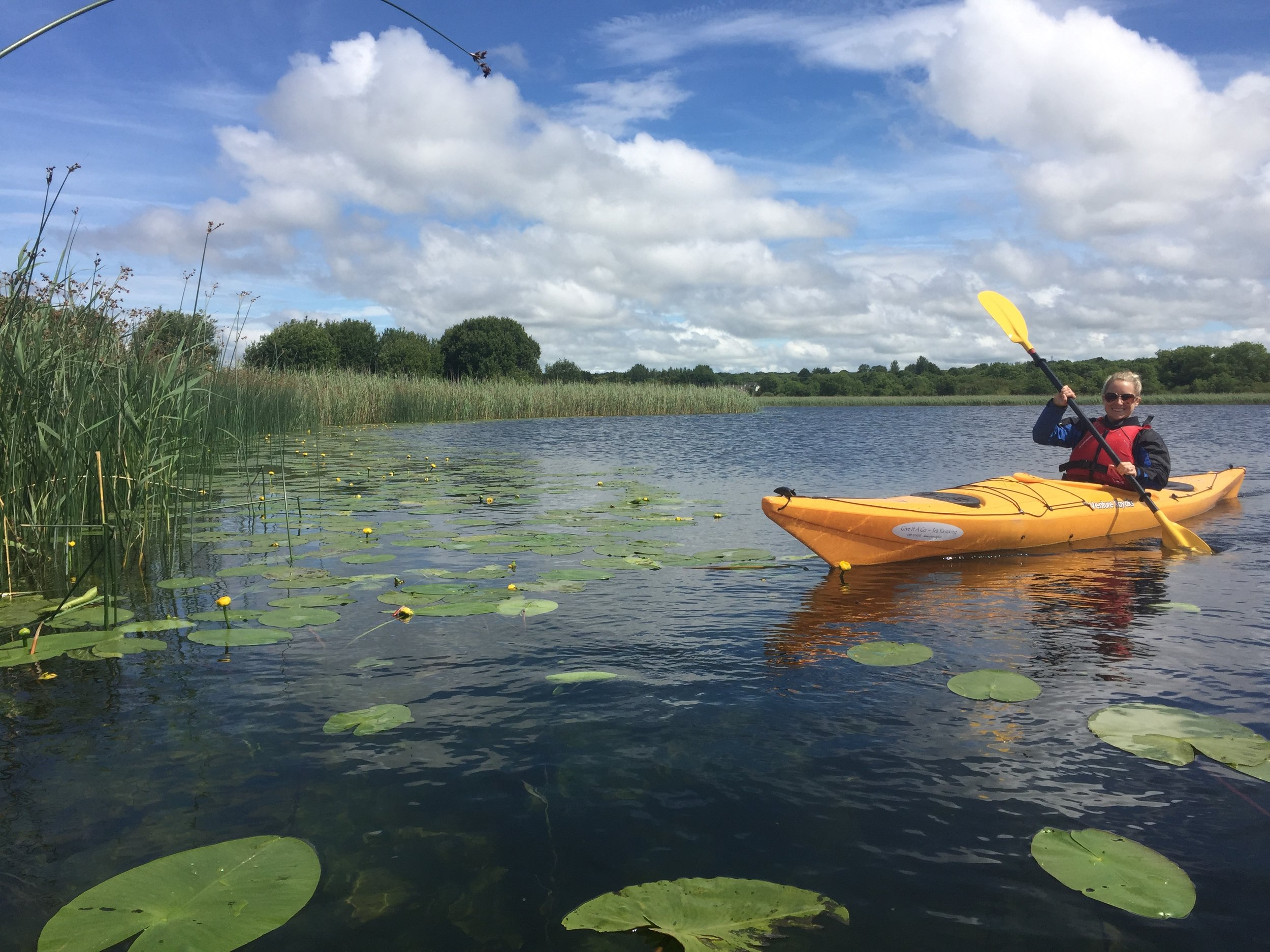 Kayaking on Galways beautiful Corrib river