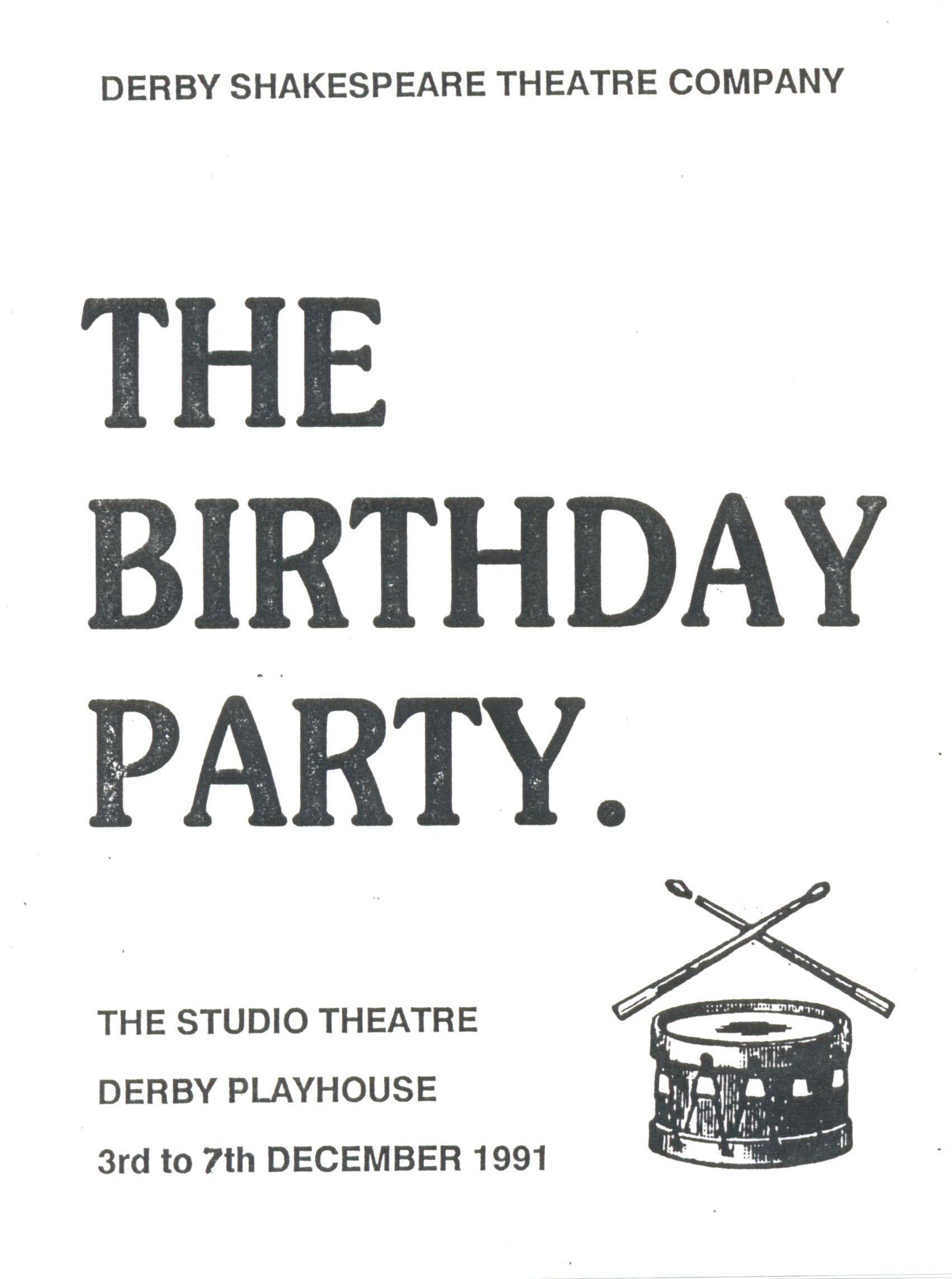'The Birthday Party' 1991