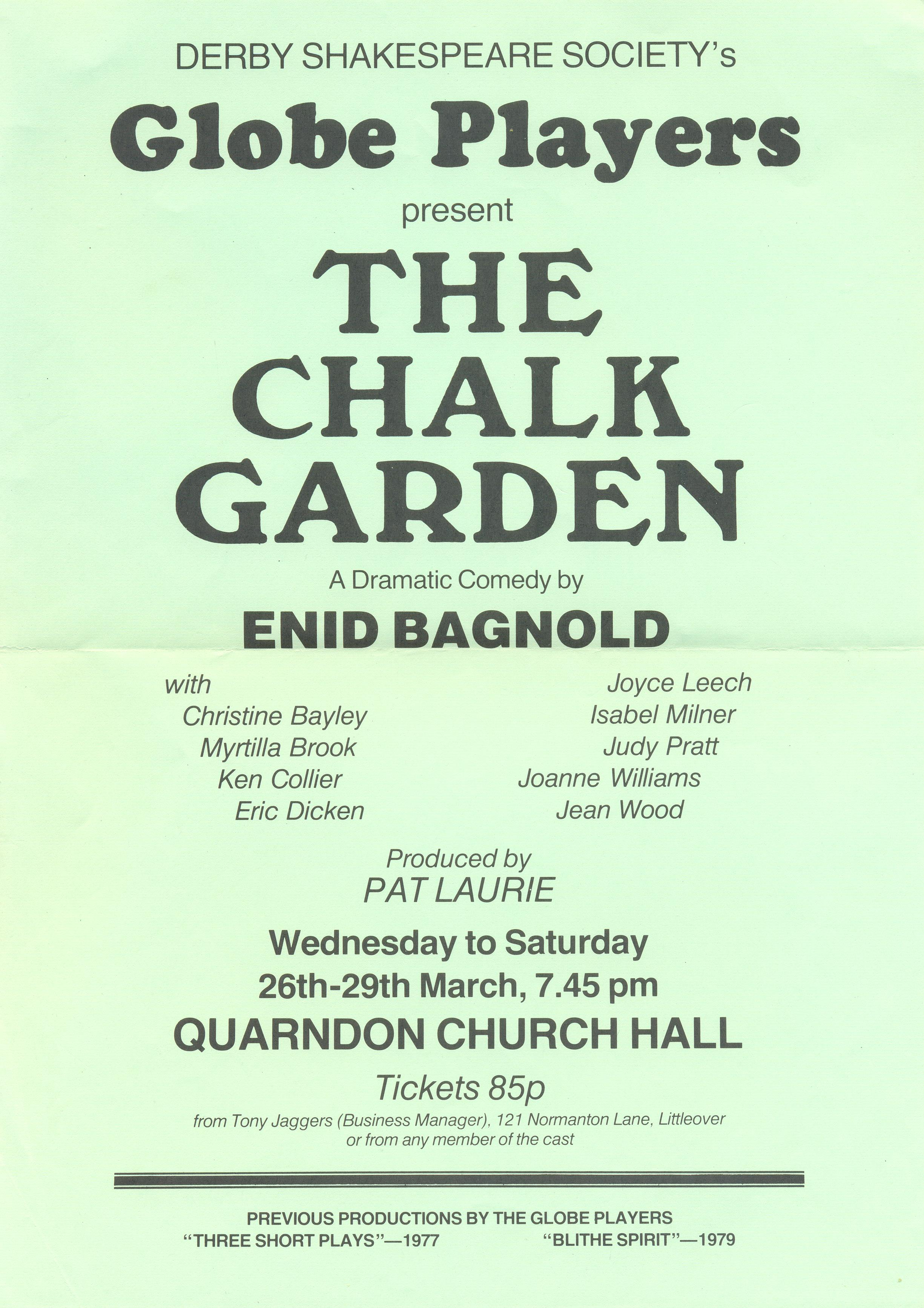 'The Chalk Garden' 1980