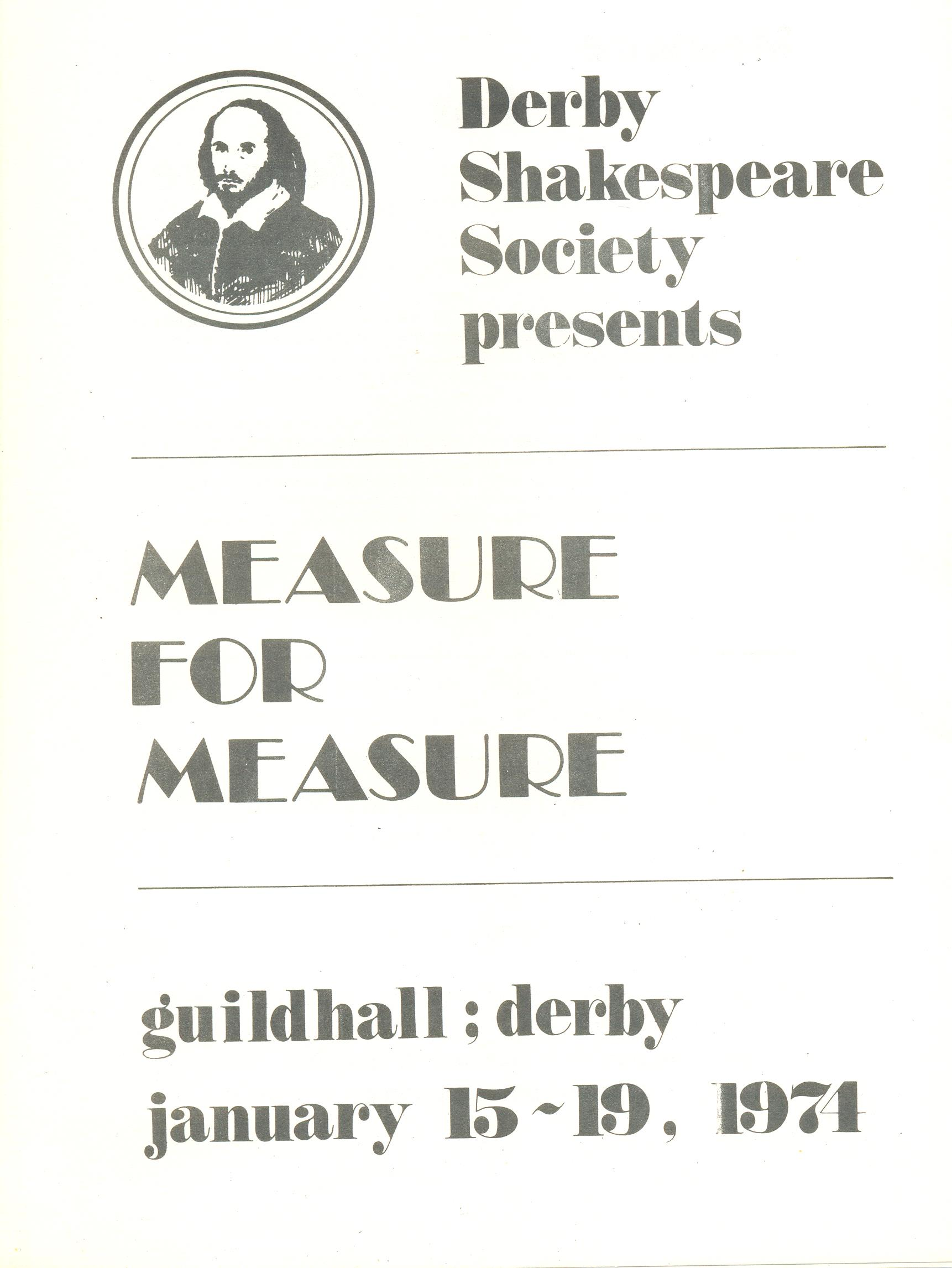 'Measure For Measure' 1974