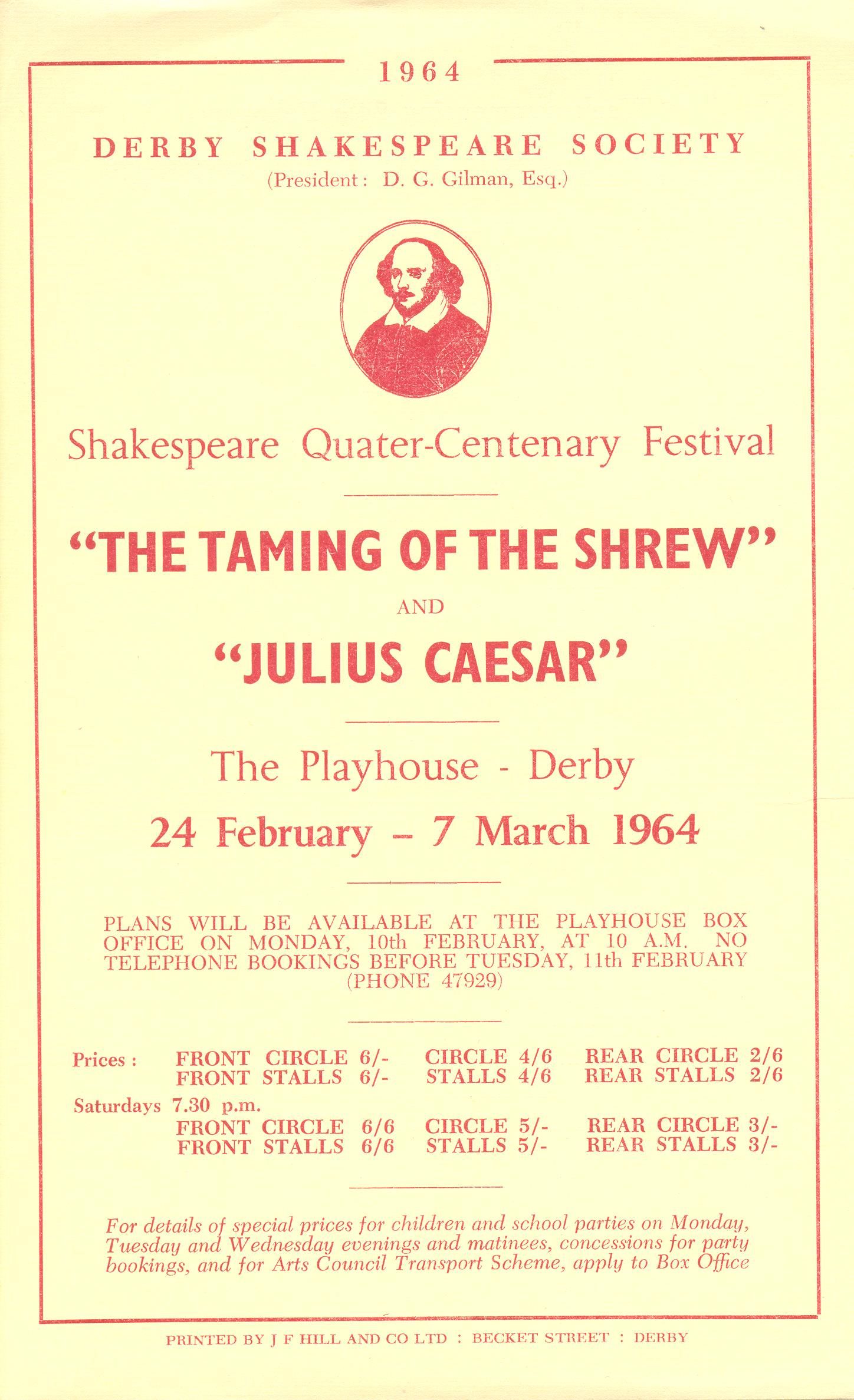 'The Taming Of The Shrew' & 'Julius Caesar 1964