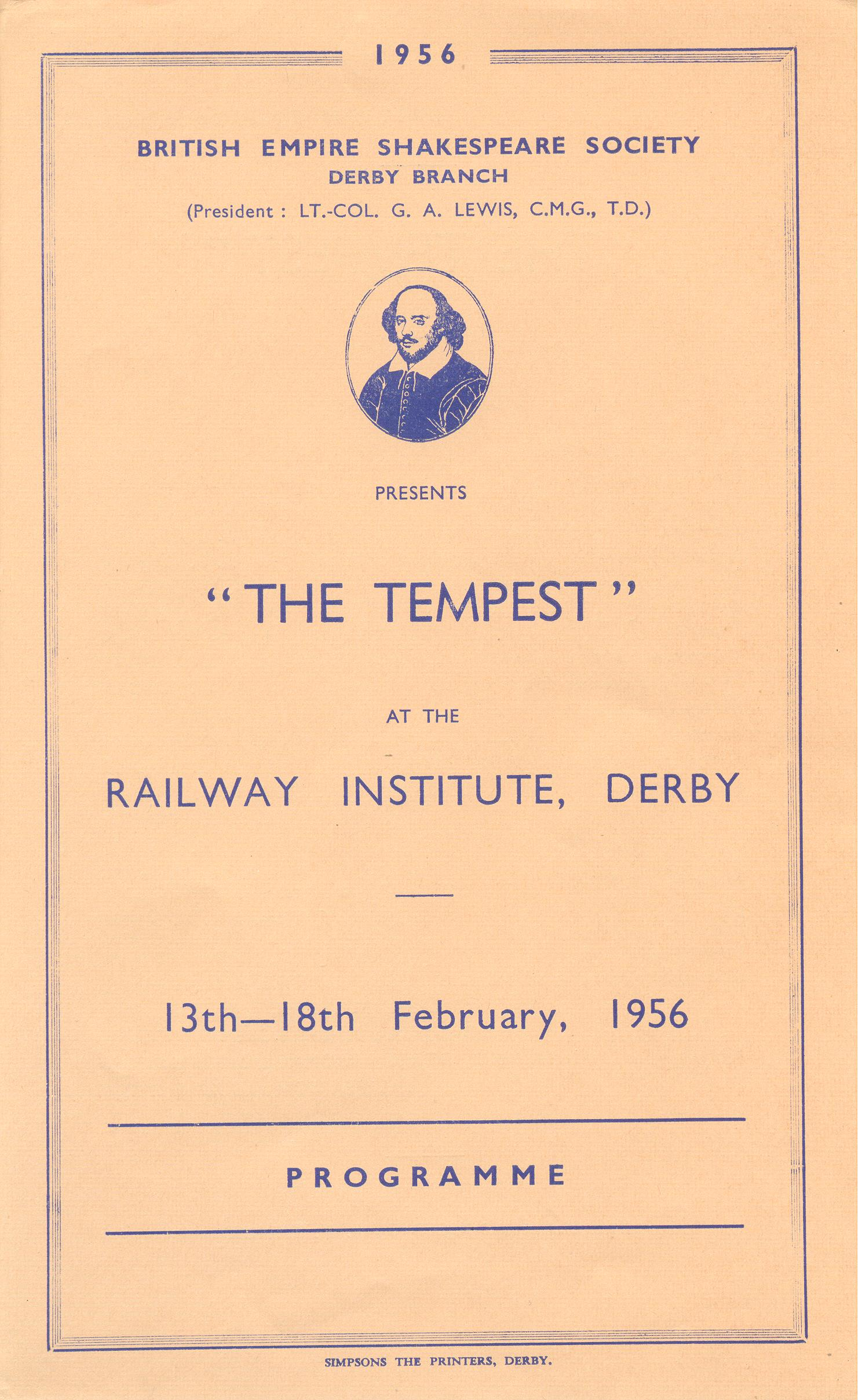 'The Tempest' 1956