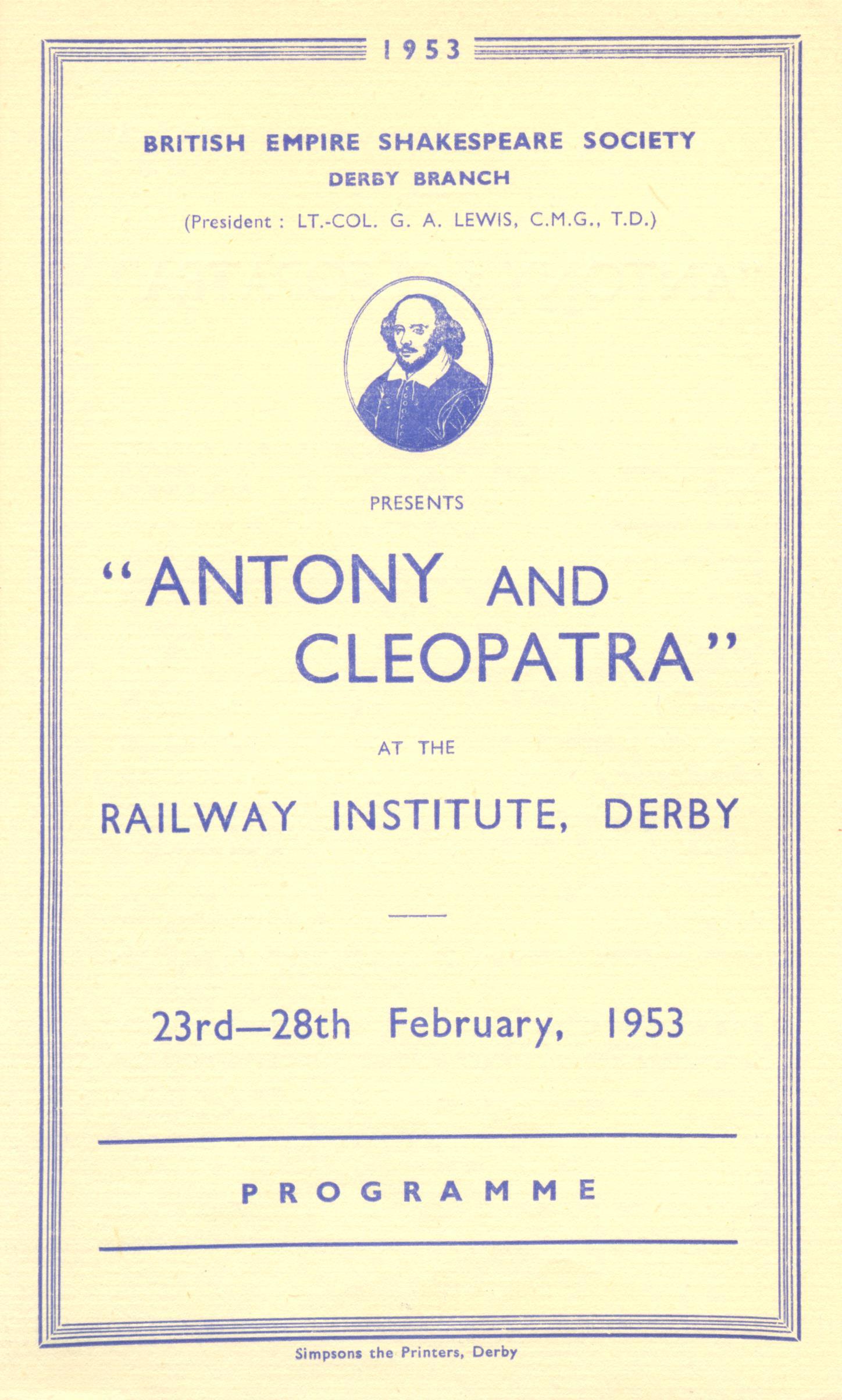 'Antony & Cleopatra' 1953