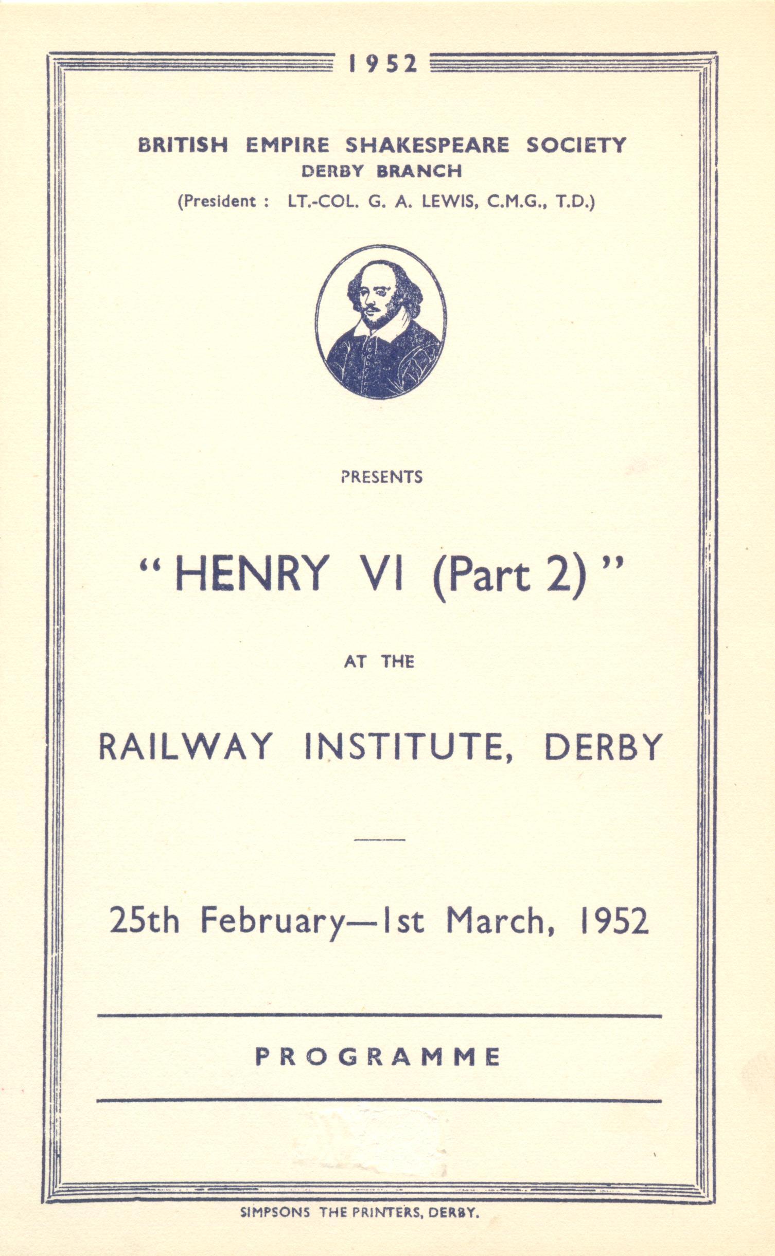 'Henry VI (Part II)' 1952