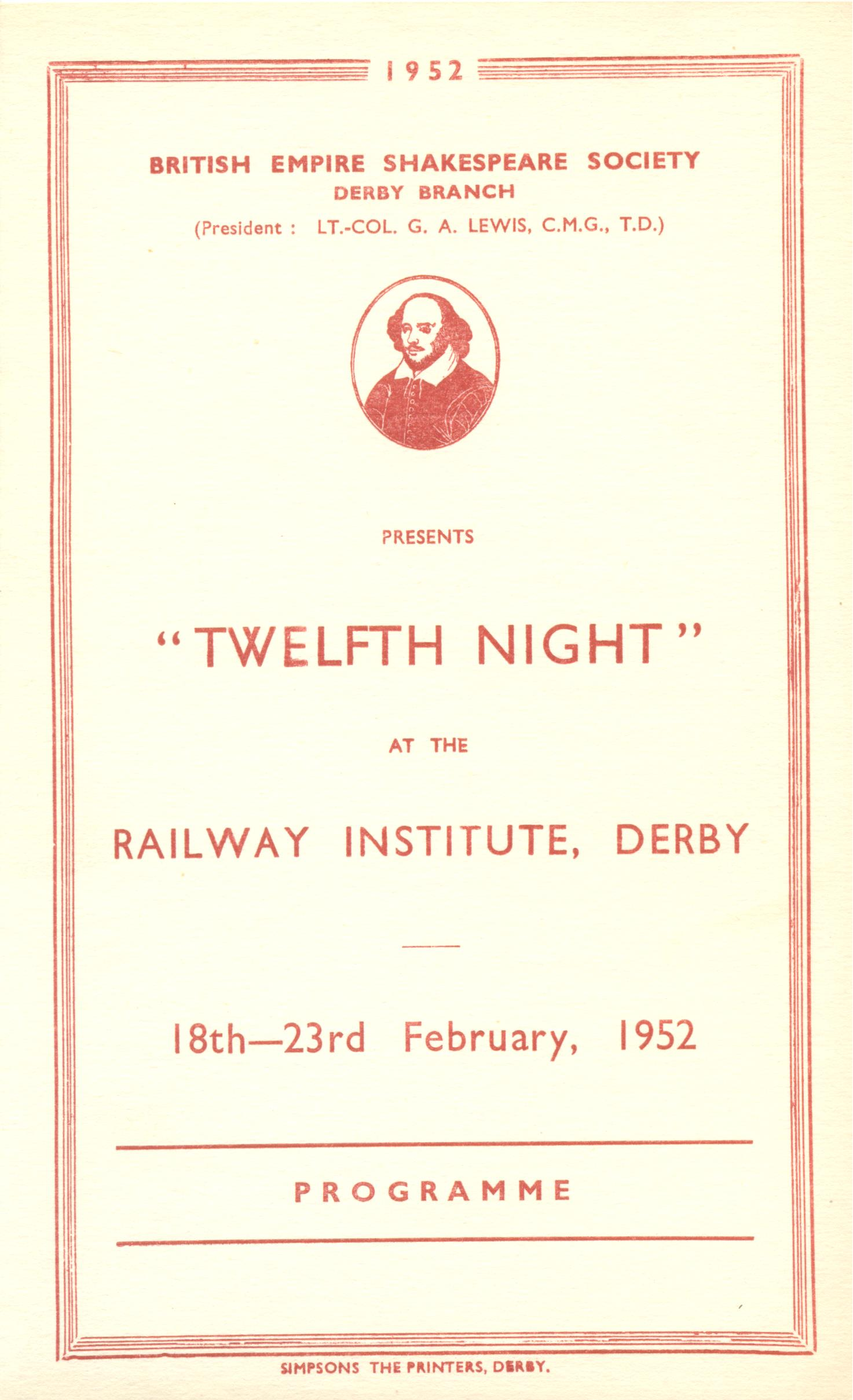 'Tweflth Night' 1952