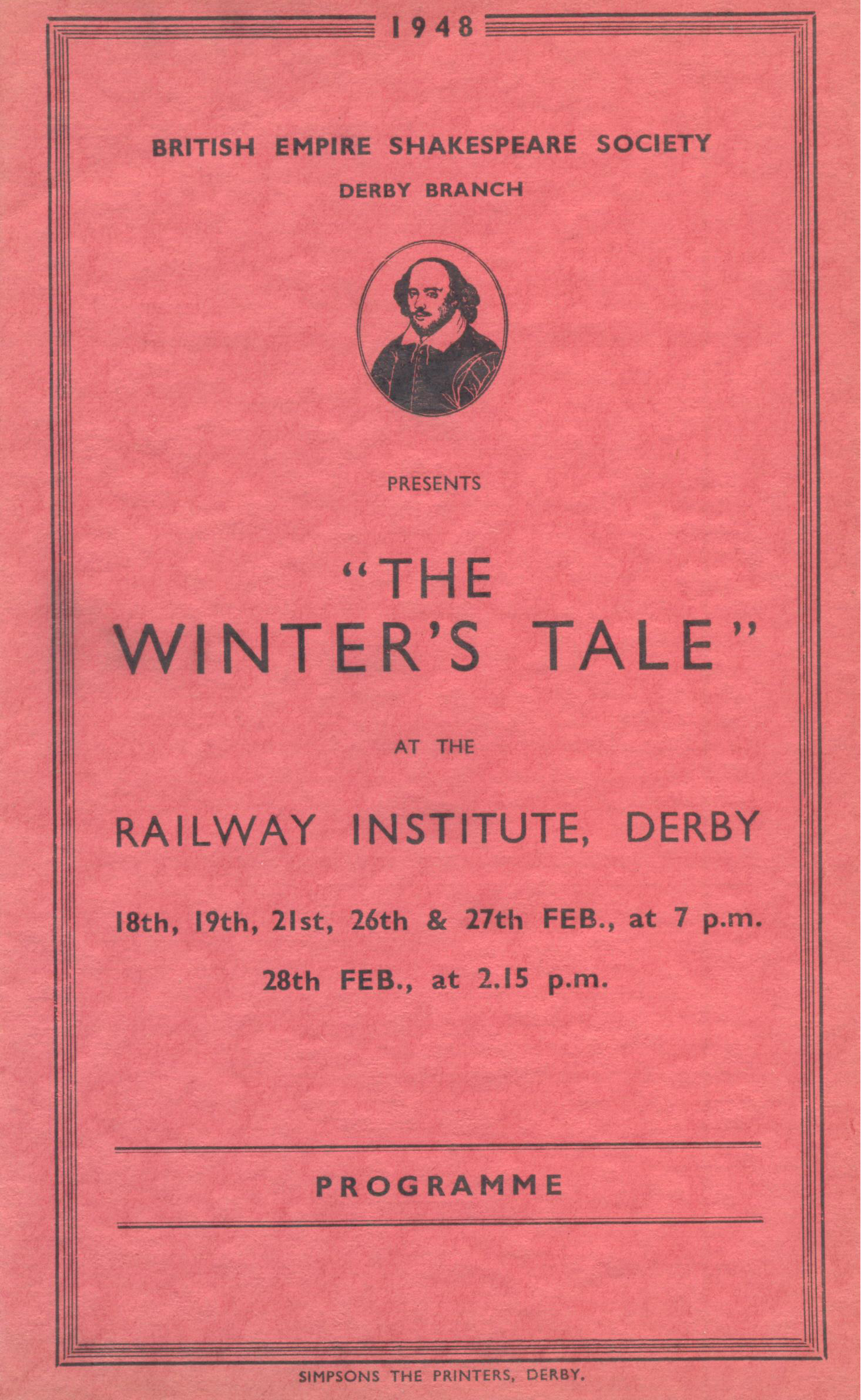 'The Winter's Tale' 1948