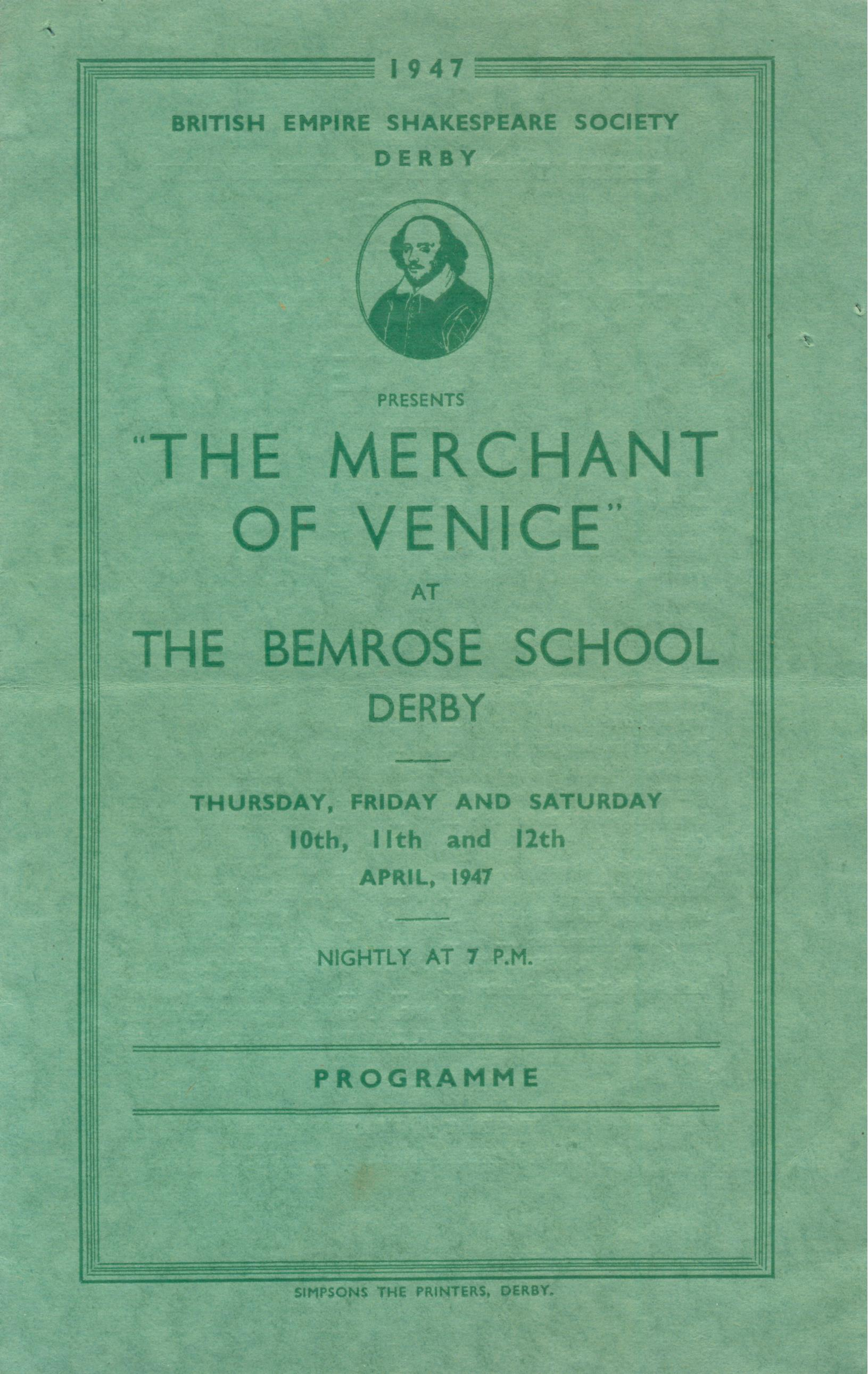 'The Merchant Of Venice' 1947