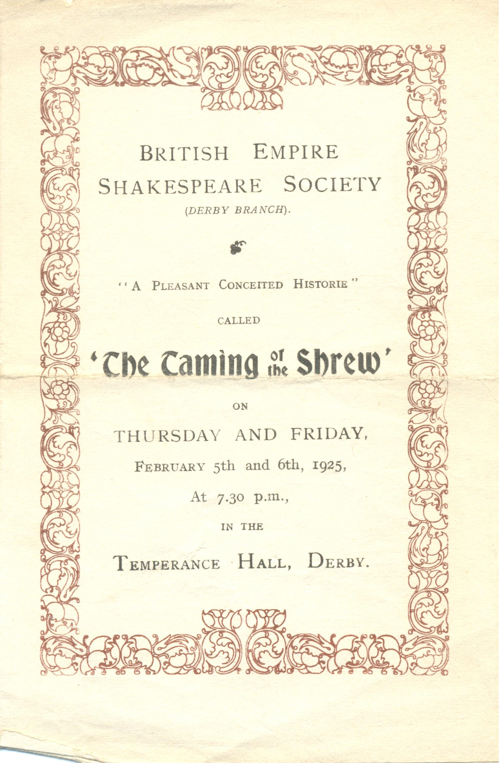 'The Taming Of The Shrew' 1925