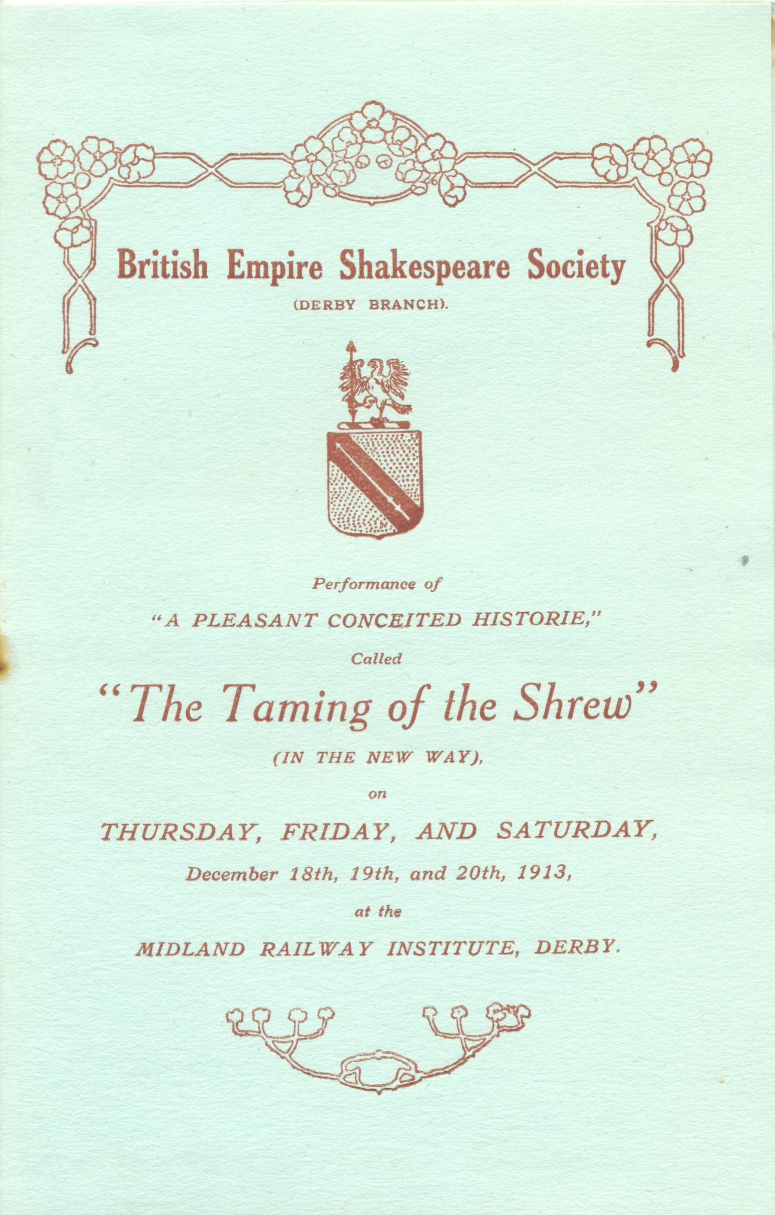 'The Taming Of The Shrew' 1913