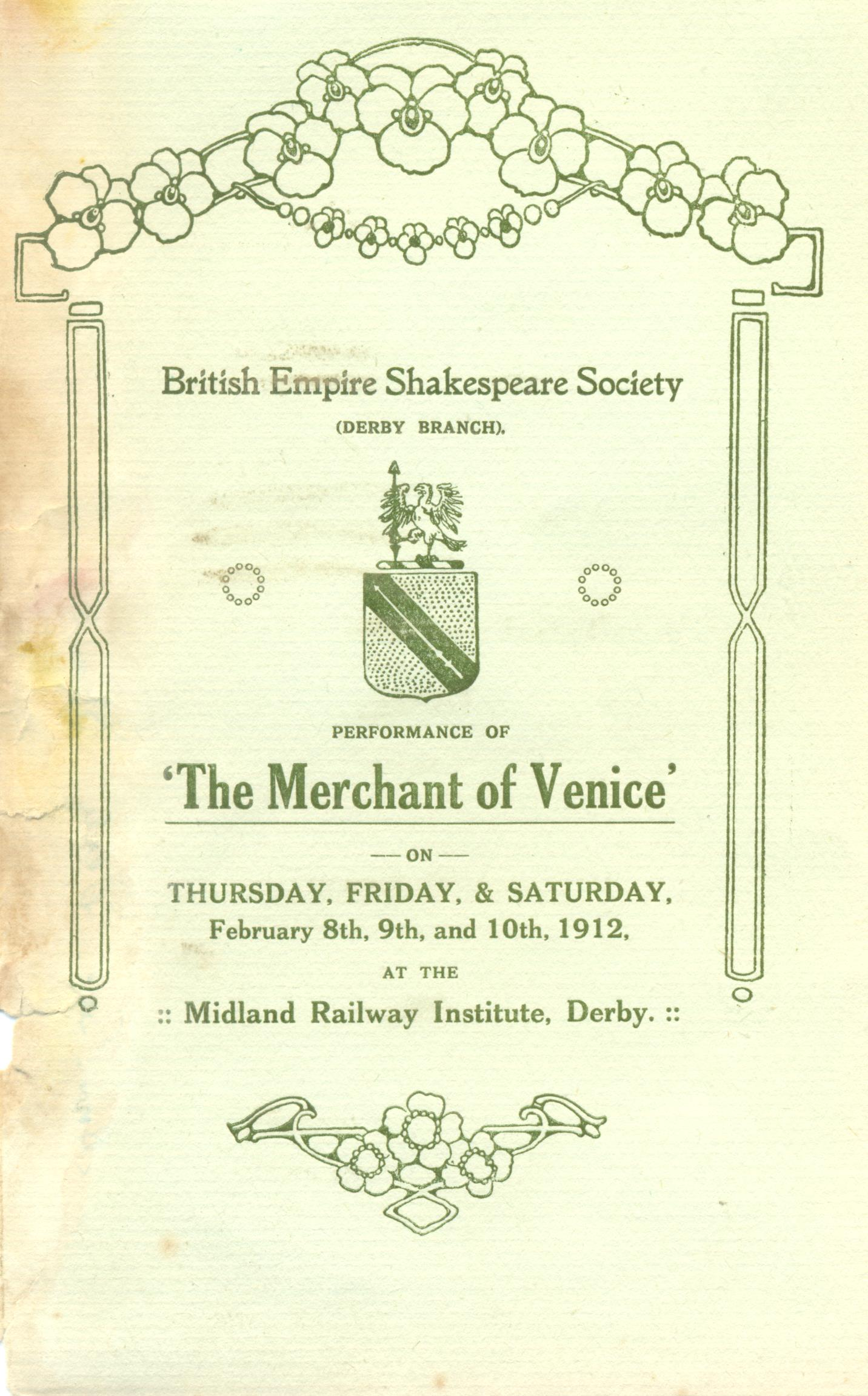 'The Merchant Of Venice' 1912
