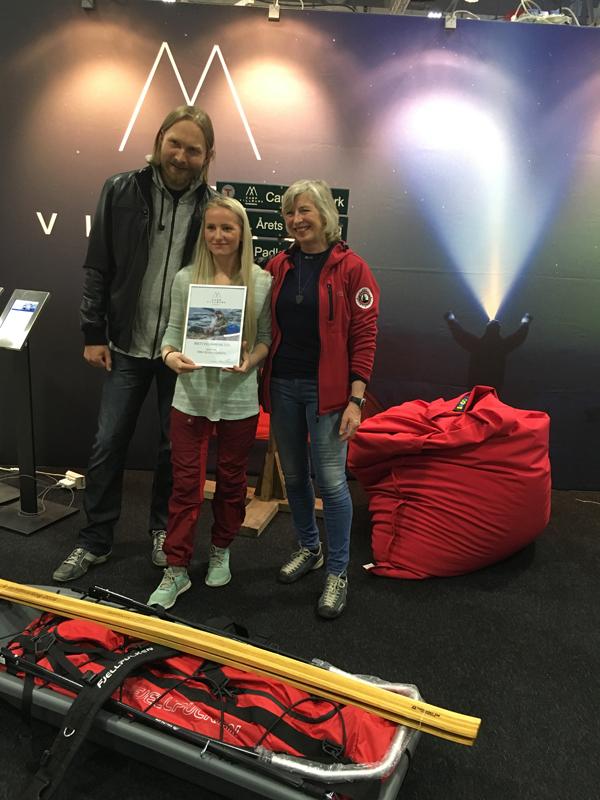 Mottakelse av Årets Villmarking 2016 sammen med finalistene Randulf Valle og Randi Skaug.