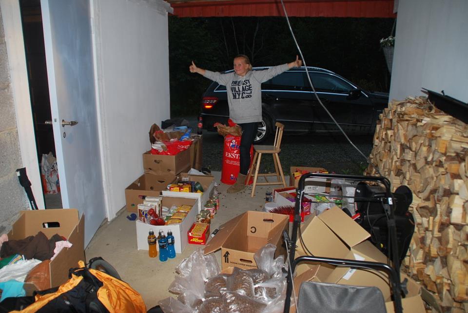 Før Norge på langs i 2011 pakket jeg helt enormt med depoter som jeg sendte ut til diverse postkontor.