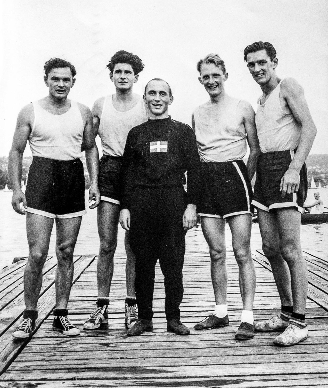 Juni 1953, Internationale Regatta Zürich, Sieger die RCE Ruderer