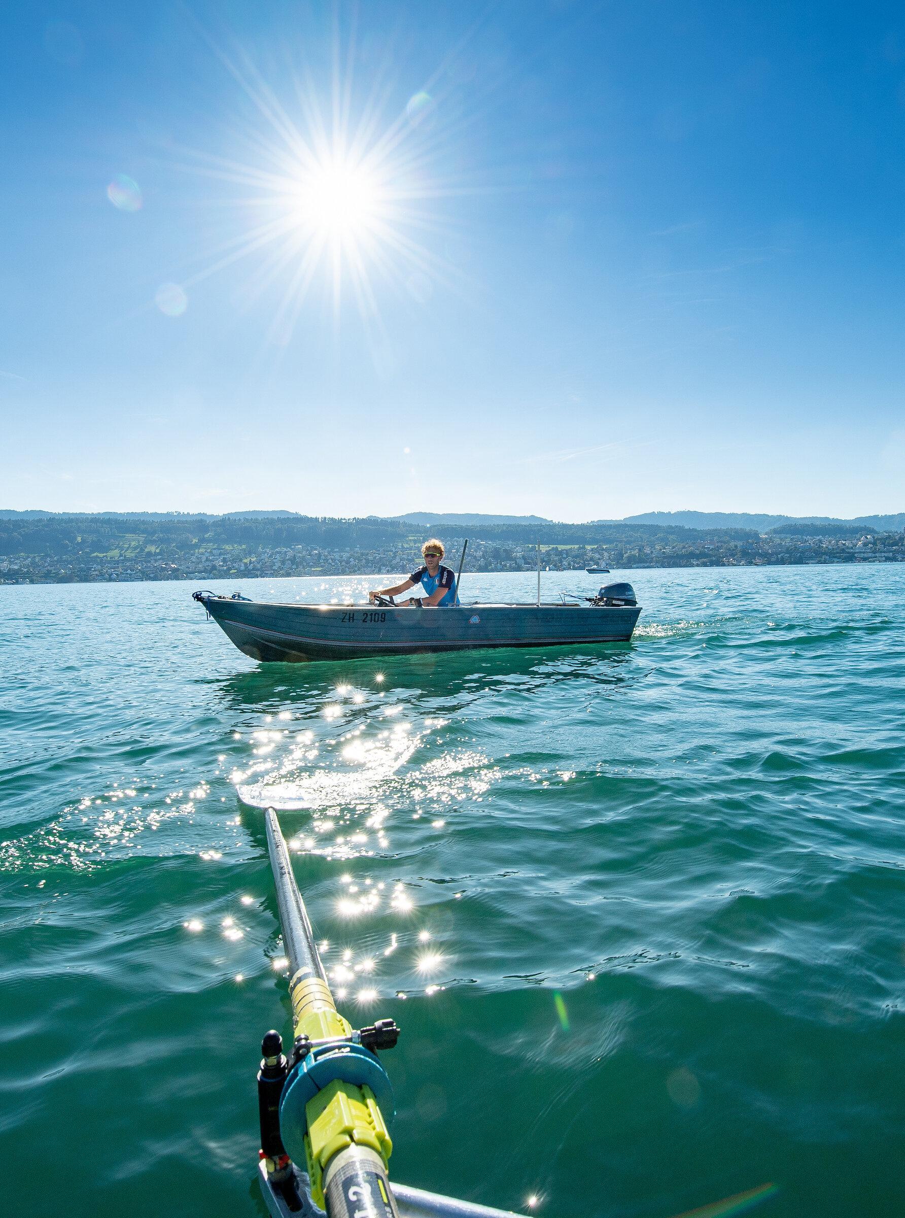 Anleitung aus dem begleitenden Trainerboot