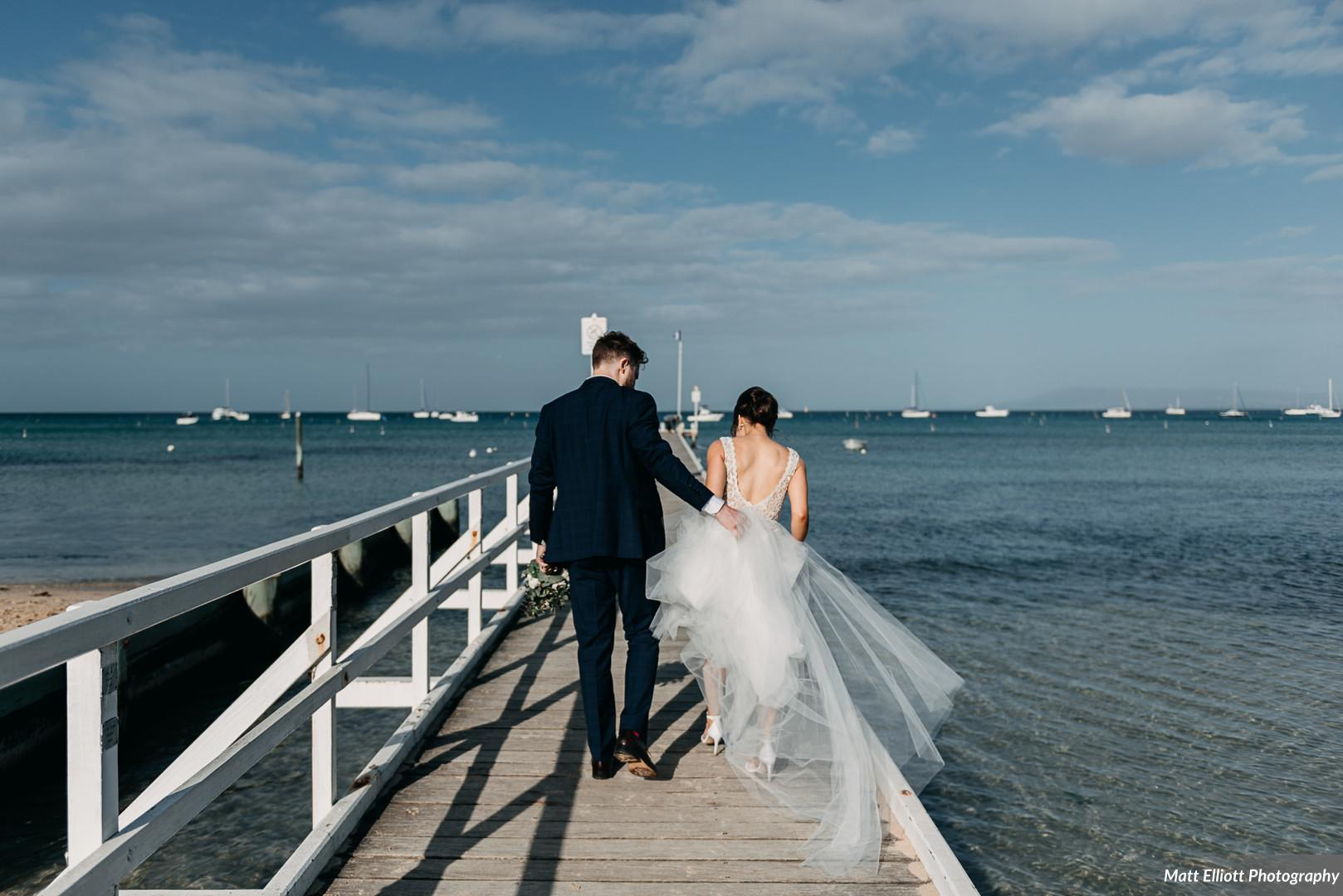 """L + L's Modern Coastal Wedding - """"Fantastic! I told them my budget and theme and she made it happen. The flowers were so fresh on the day and they worked well with our cake supplier. I didn't have to worry about anything!""""~Lisa (Bride)"""