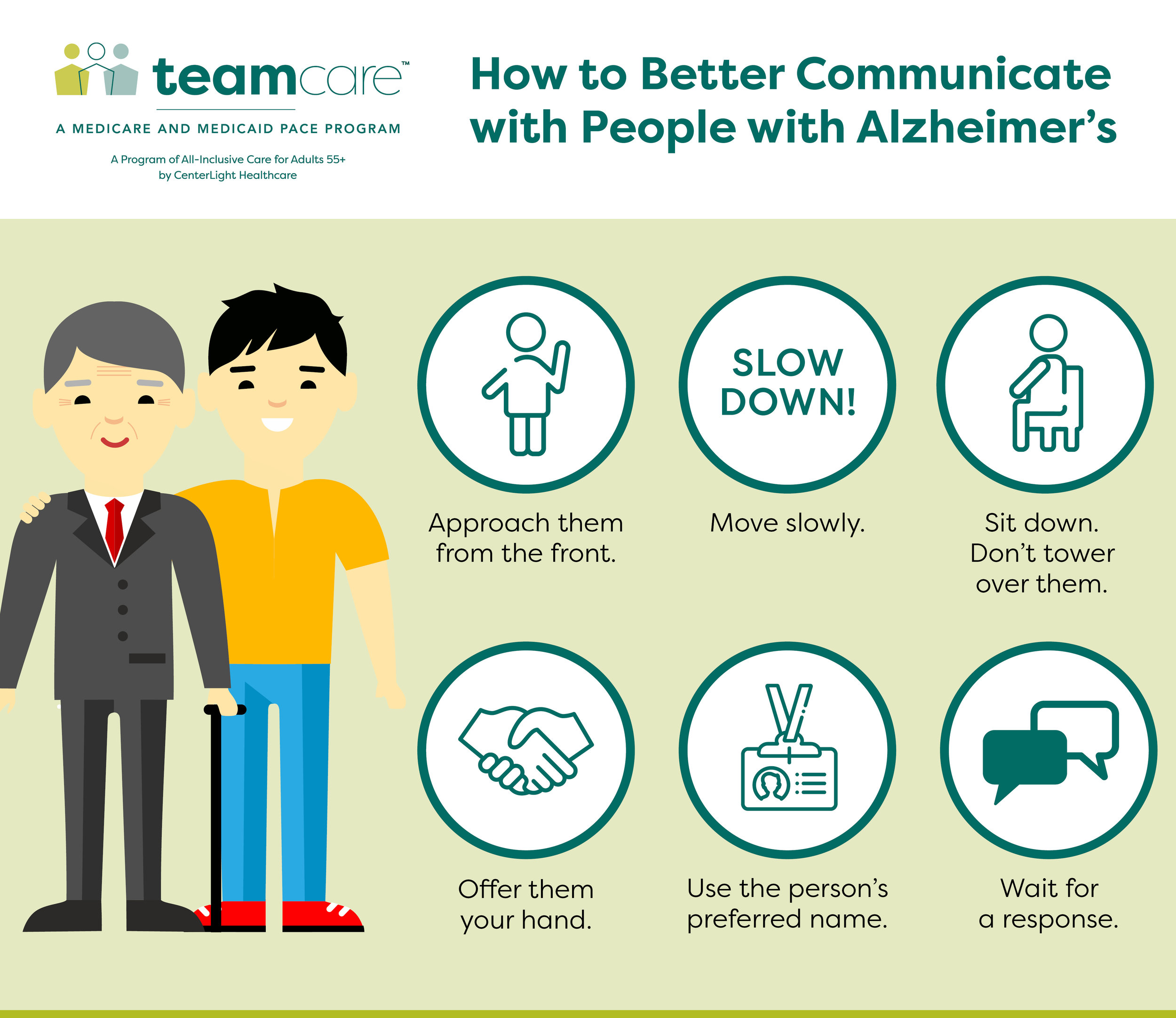 Infographic on how to better communicate with people with Alzheimer's