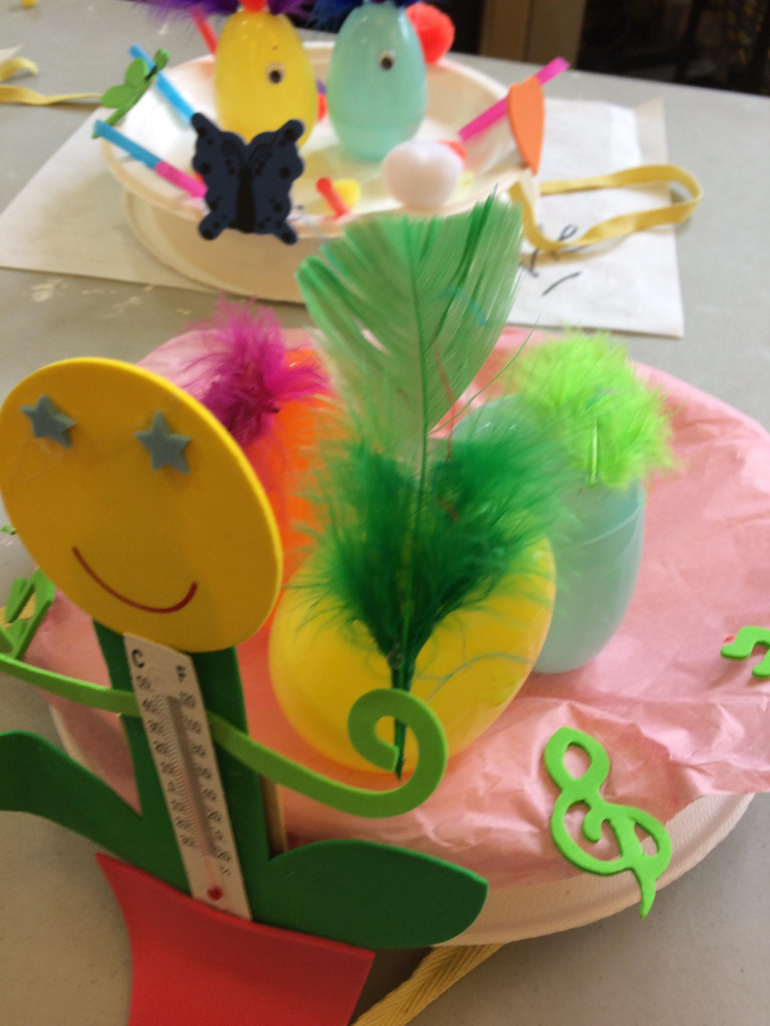 Easter hat with smiley face