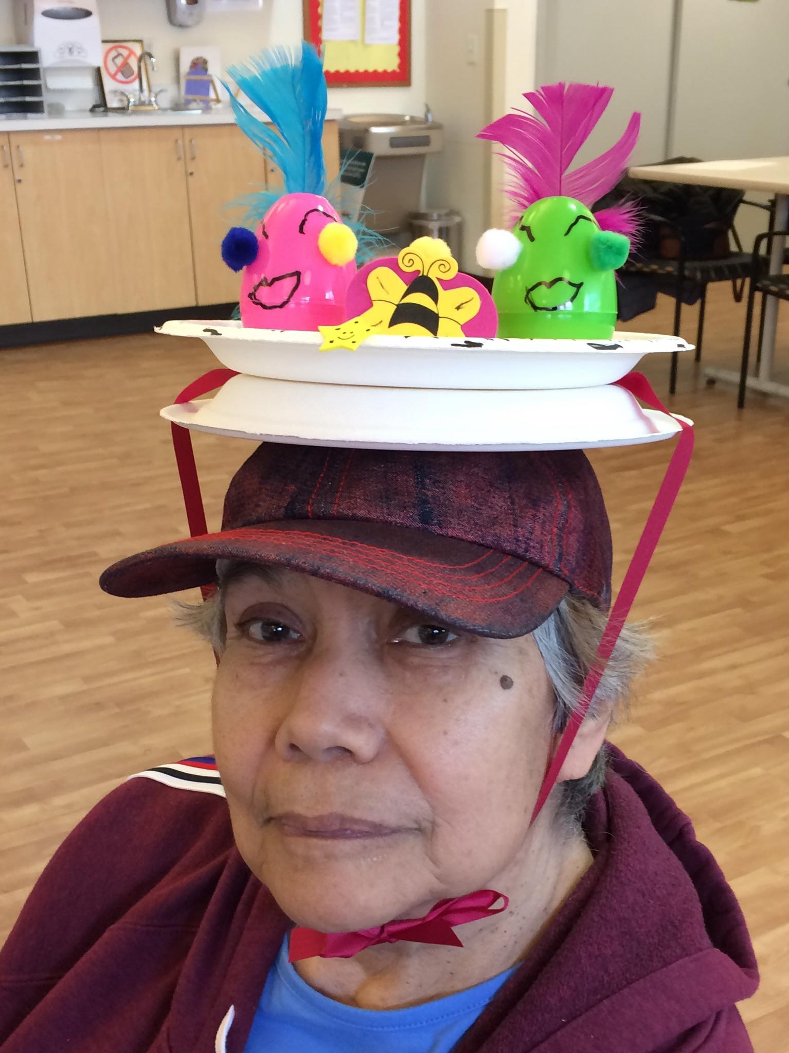Woman with Easter hat