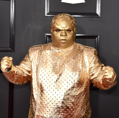 CeeLo Green as his alter ego, Gnarly Davidson on the Grammy red carper