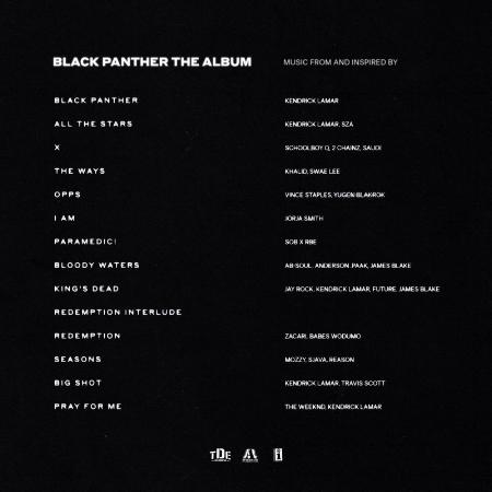 Black Panther Tracklisting