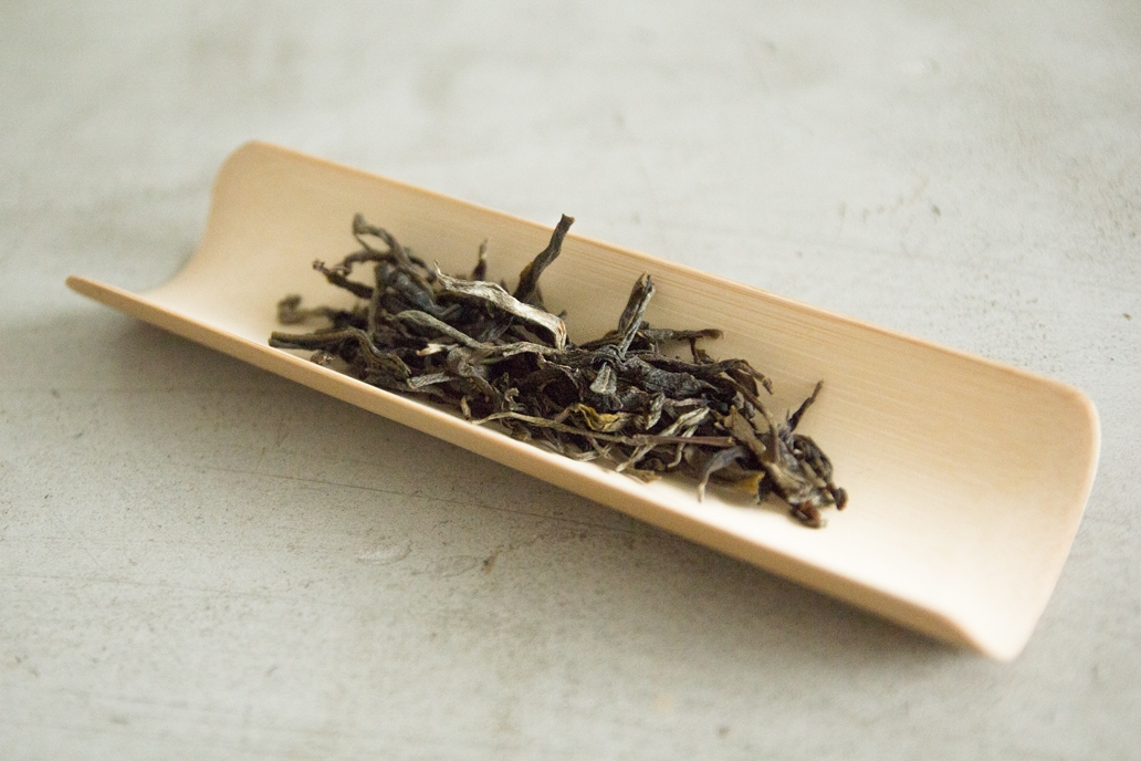 Pu-erh (a varietal of fermented black tea) from a centuries-old tree located in Xi Gui, Lin Cang, Yunnan province. Along with the below-pictured black tea, these are the most expensive tea leaves Yap owns.