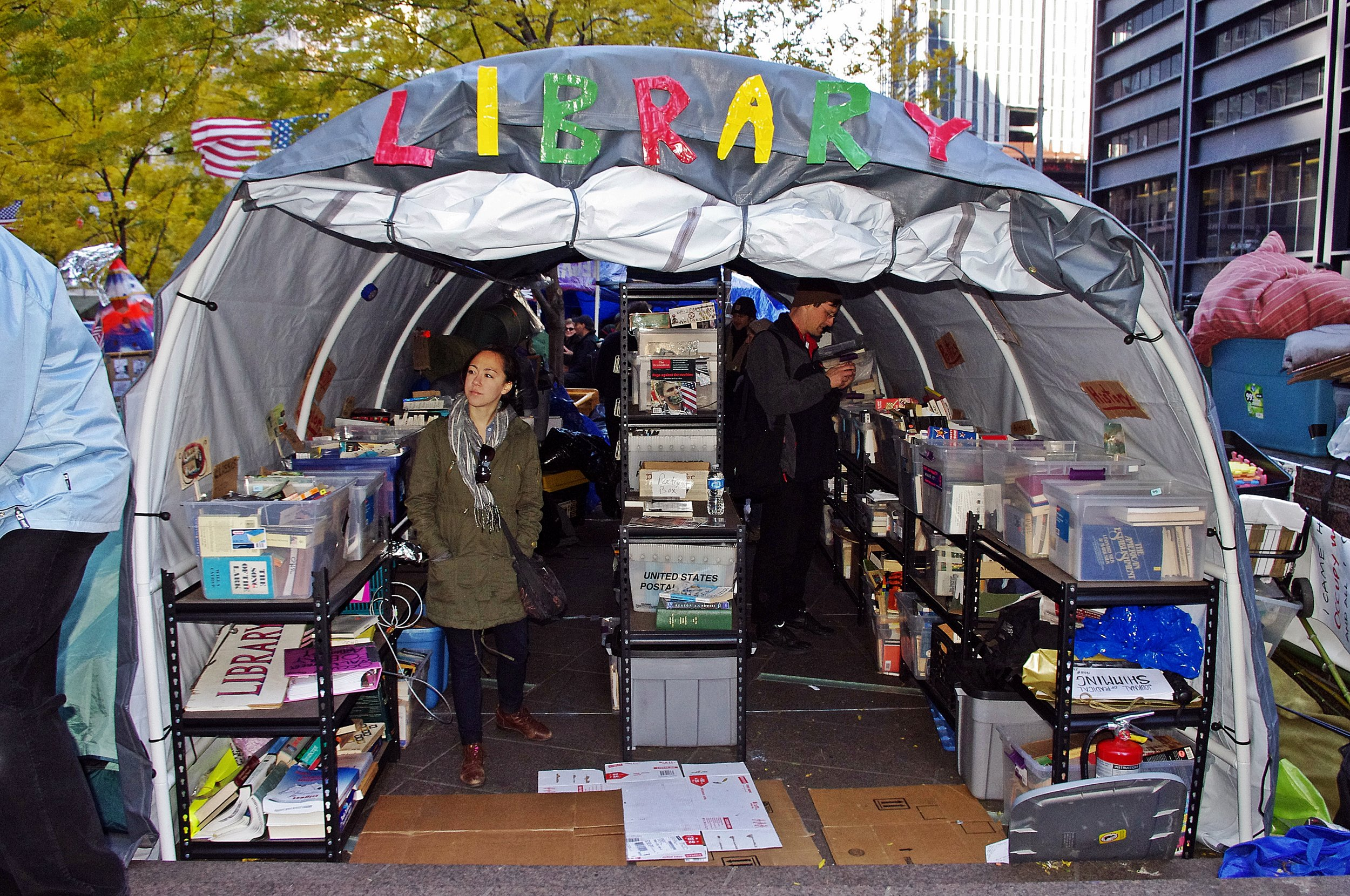 Peoples_Library_Occupy_Wall_Street_2011_Shankbone.JPG