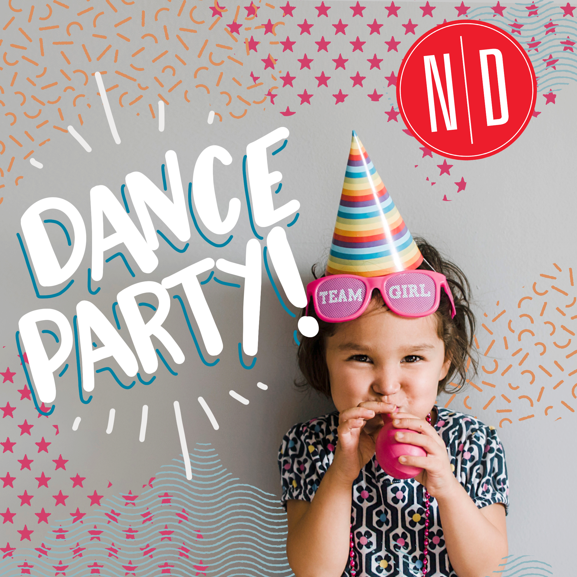 Dance Party! - Wednesday, June 26th · 6:00 to 7:00pm ORWednesday, July 31st · 6:00 to 7:00pmLittles (along their favorite big person) can let loose with some of their favorite things: bubbles and balloons! Set to fun music so grown-ups may even want to join in this dance party! A great introduction to music, moving and fun! Attire: Any comfortable clothing that your little can move in!Price: $20