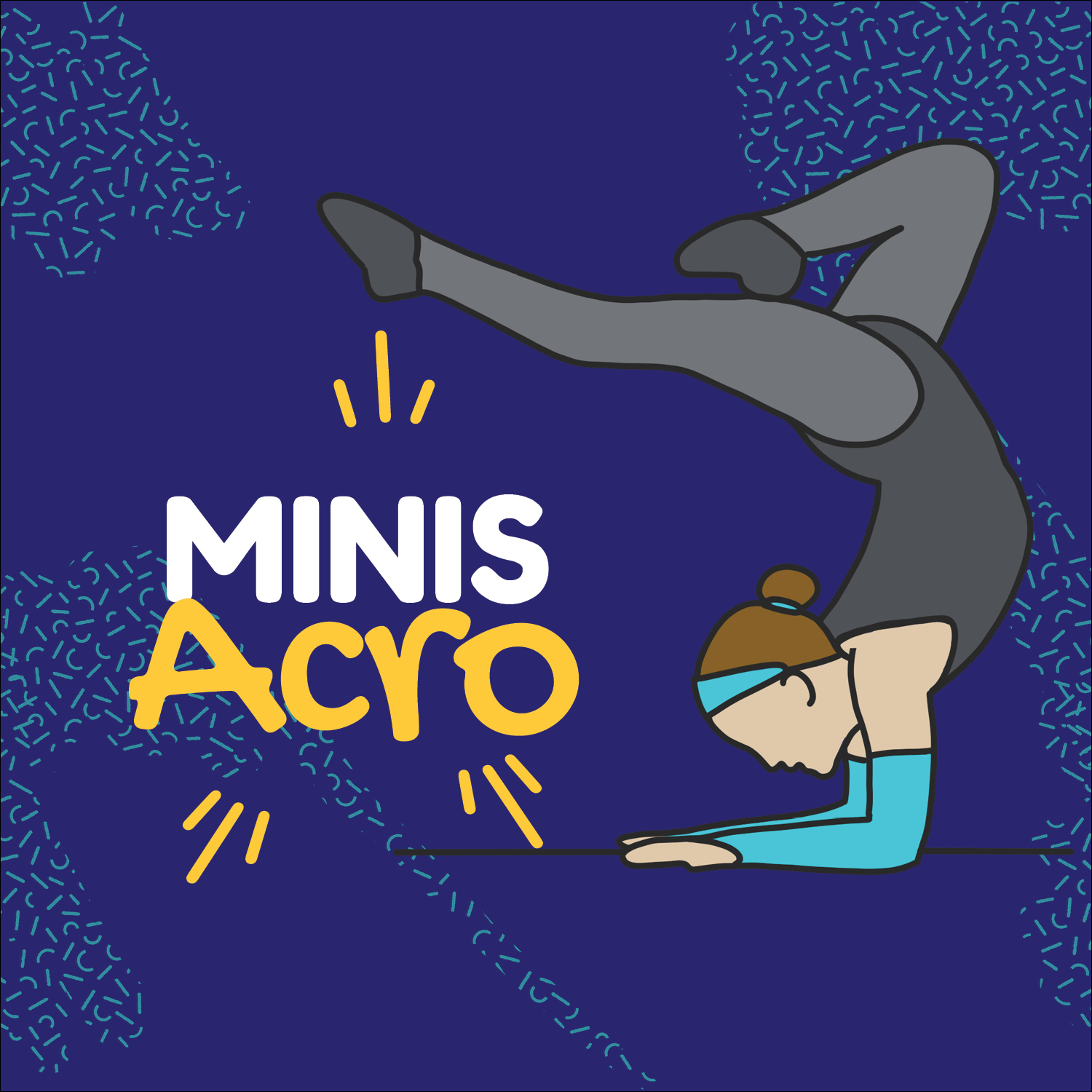 Mini Acro - June 10th - June 28thTuesdays 9:00 to 9:45amJuly 8th - July 26Tuesdays 9:00 to 9:45amAn introduction to Acro limbering, balancing, tumbling, strength and flexibility.Price $41