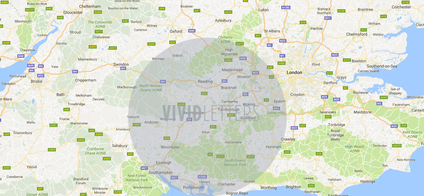 Doesn't quite cover your location? No worries - just get in touch with us and we can quote depending on where you want your letters