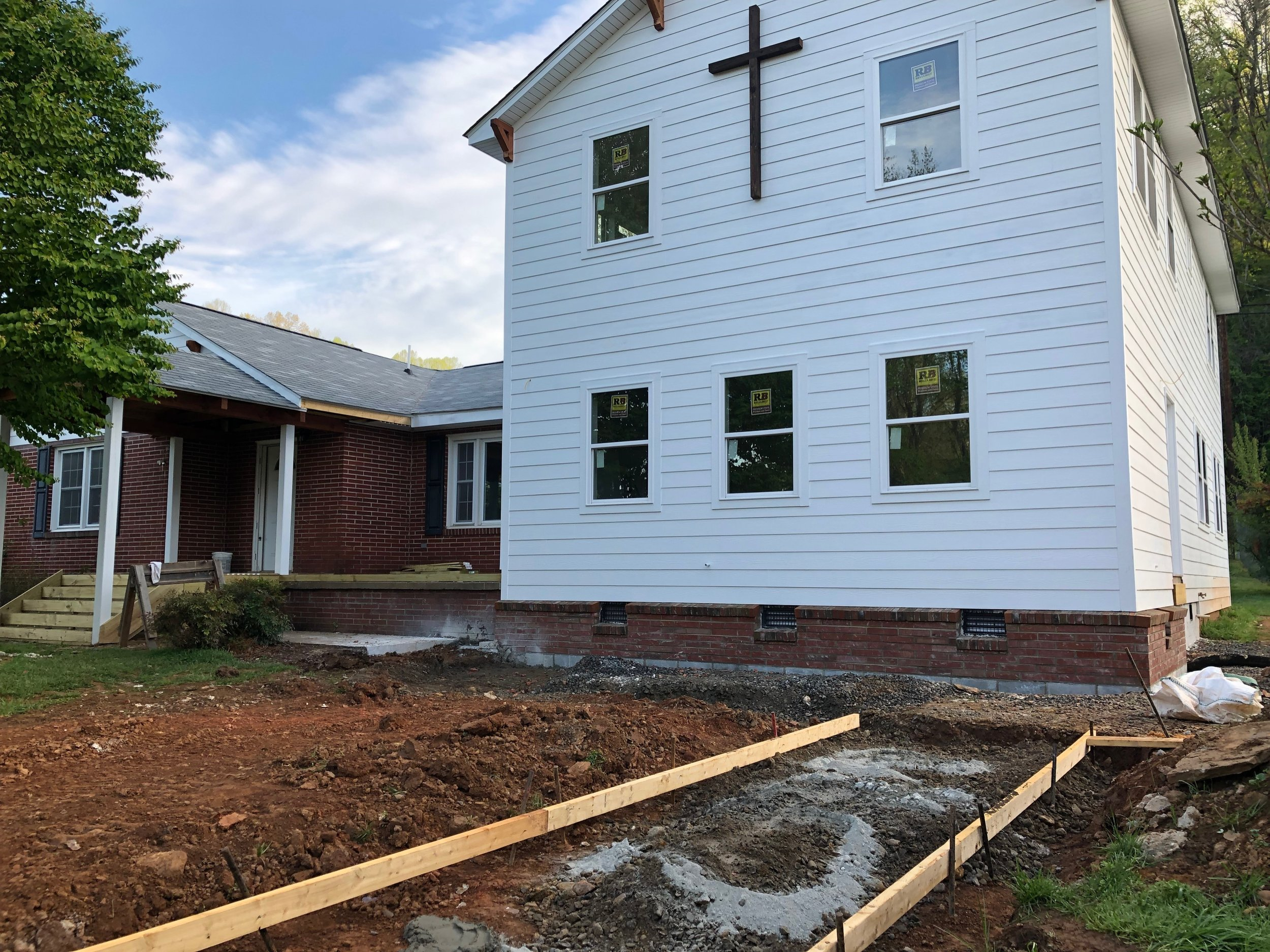 Building the sidewalk