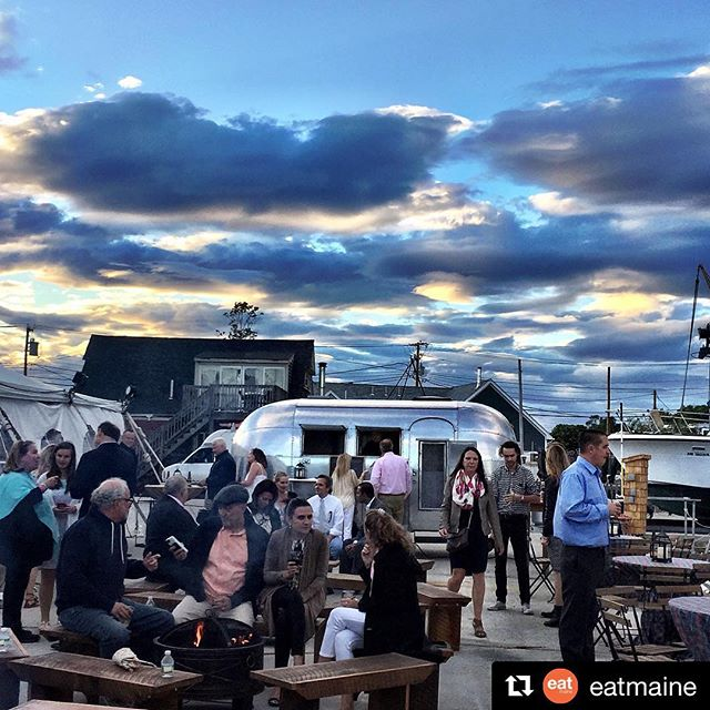 #tbt To the wonderful #spiritofmaine event at the @kportfest last Thursday. What a night! Thank you @eatmaine for the beautiful pic. #eatlocal #eatmaine #eatshrimp #airstream #airstyle #mainesummer
