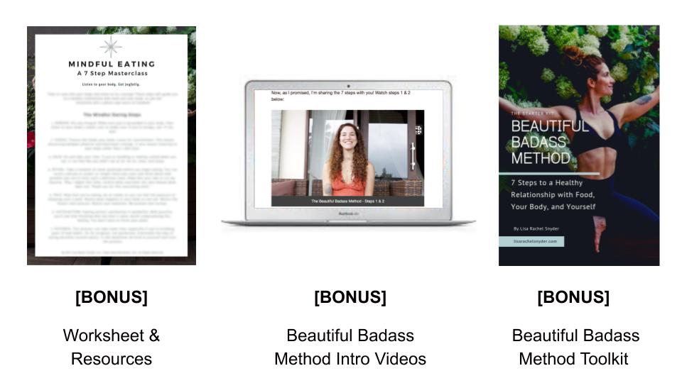 Mindful Eating Masterclass by Lisa Rachel Snyder - Free Bonus Kit