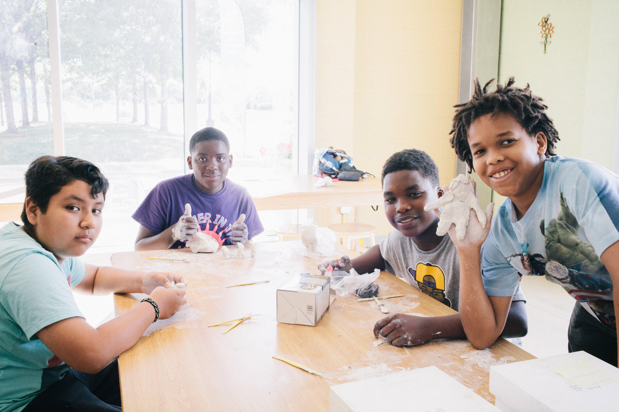 Students at our Out of School Arts animation class. Photo by J. Lindsey Photography.