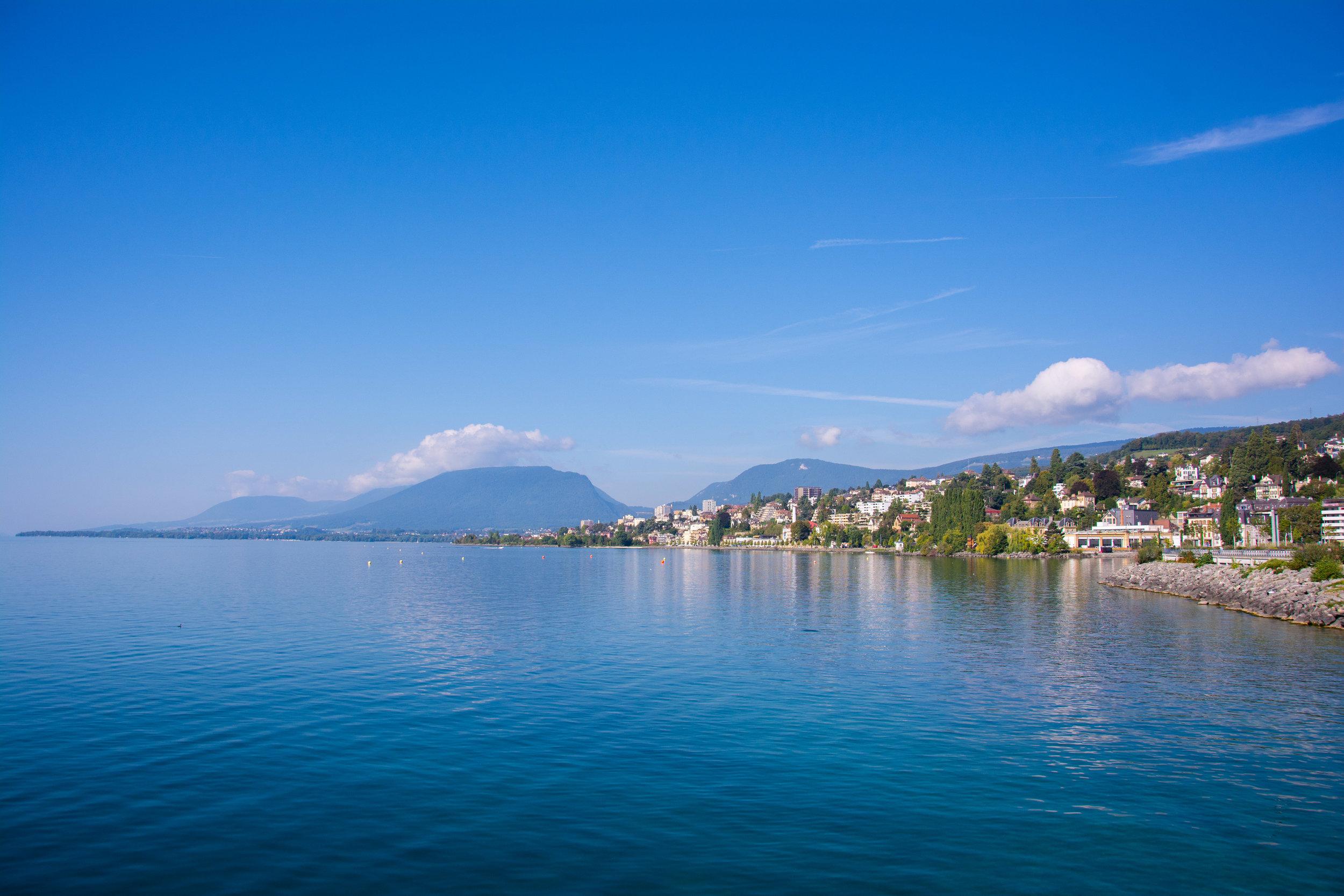 The Lake Toward Lausanne