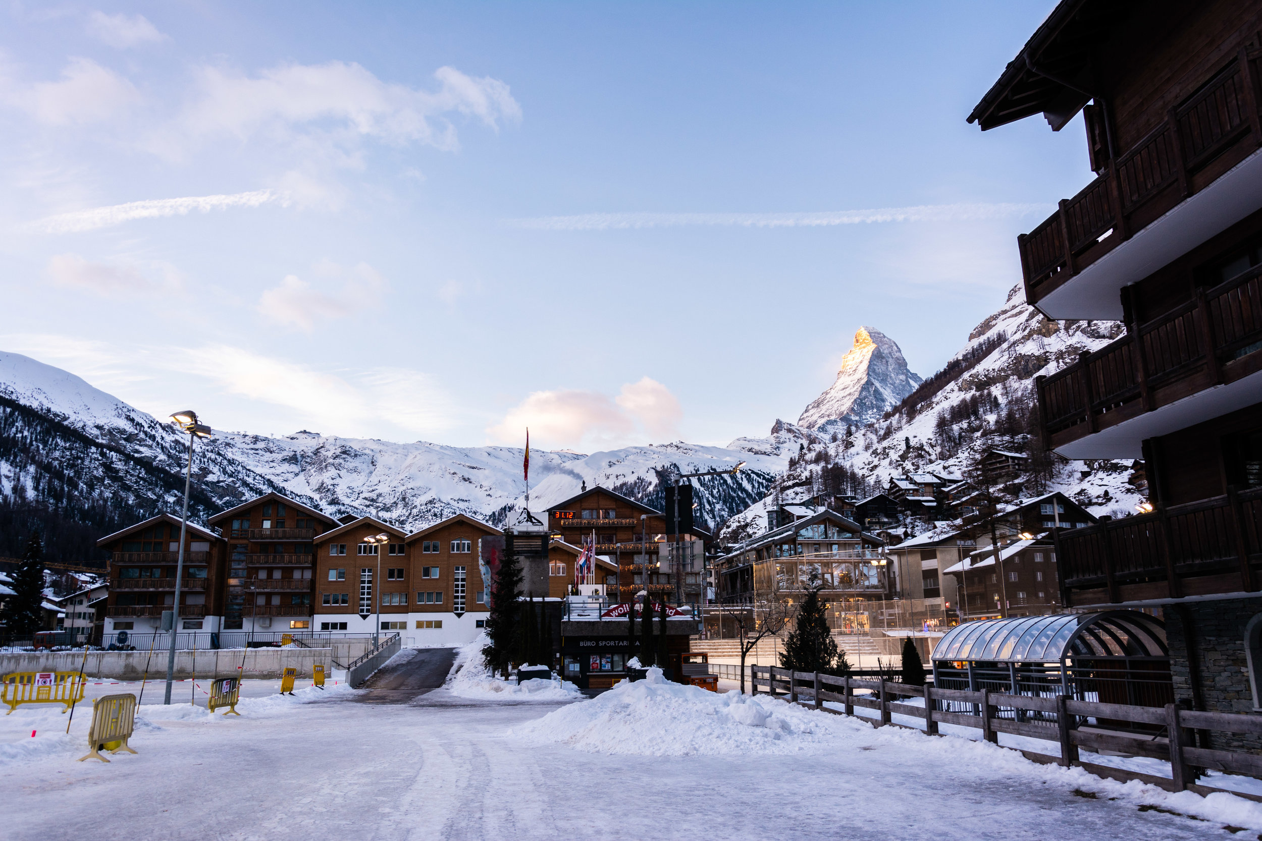 Zermatt at 8:20AM