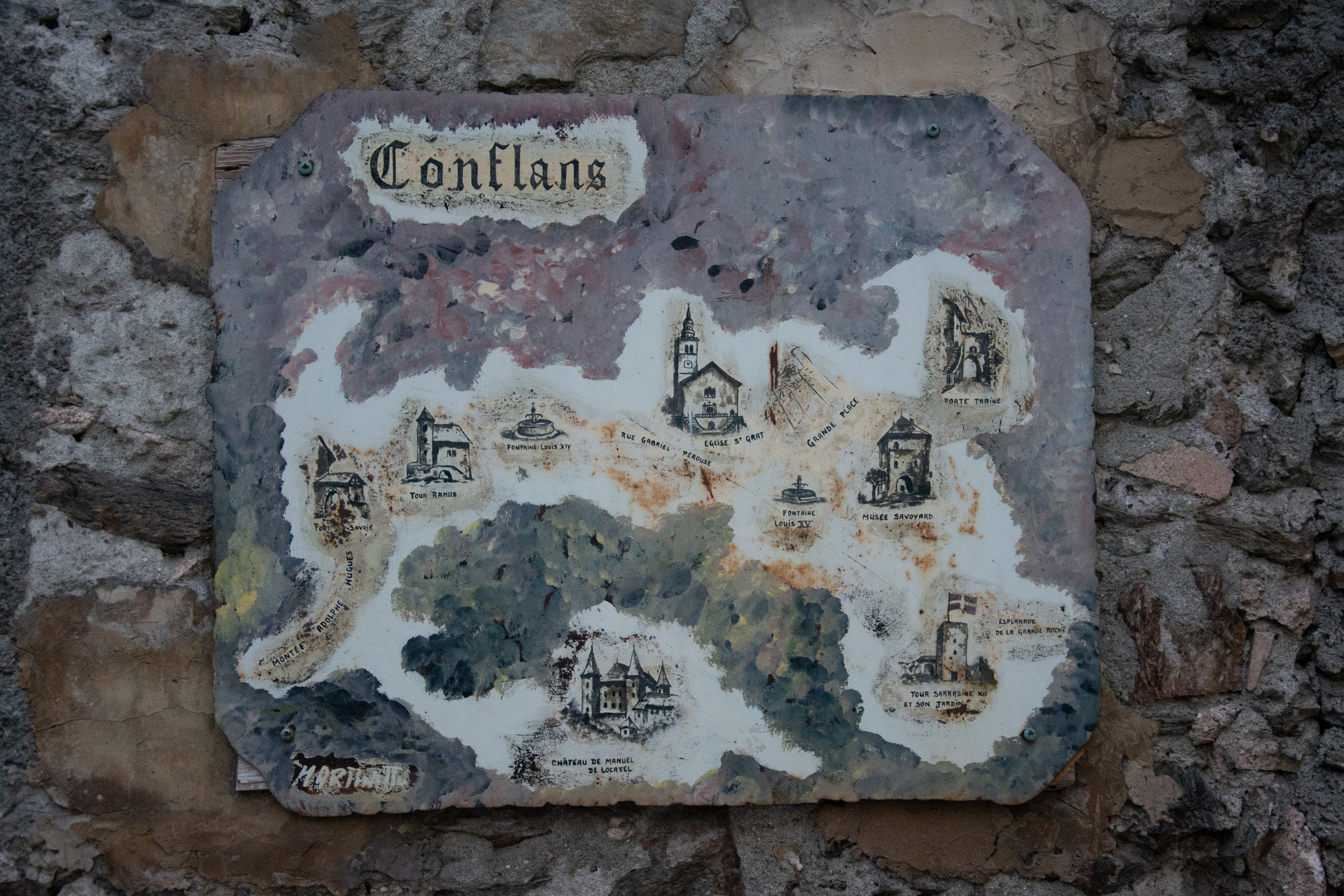Conflans Map