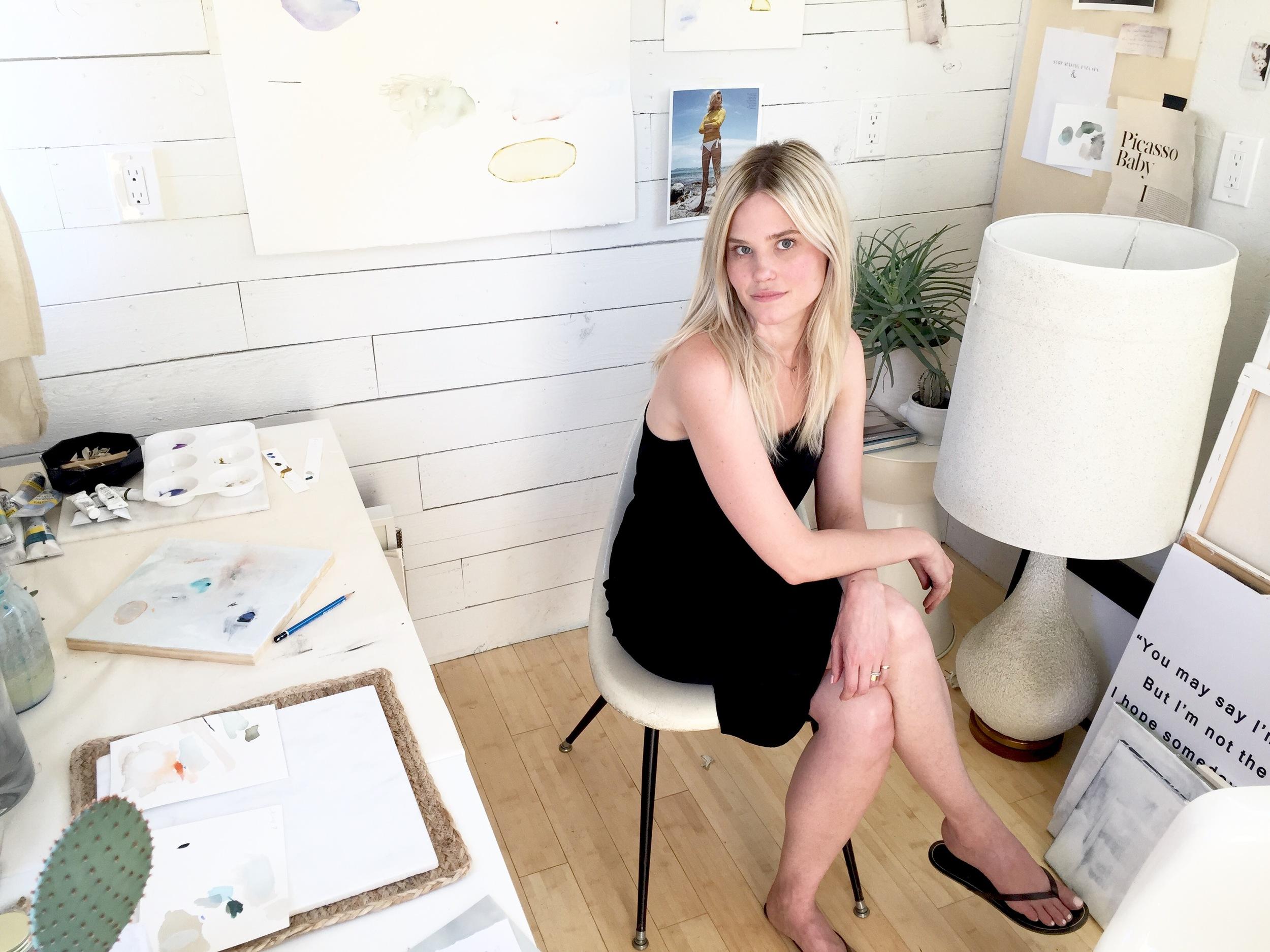Lindsay King in her studio