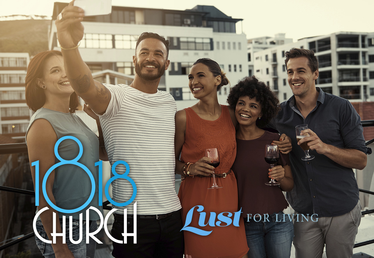 residents taking picture at 1818 church