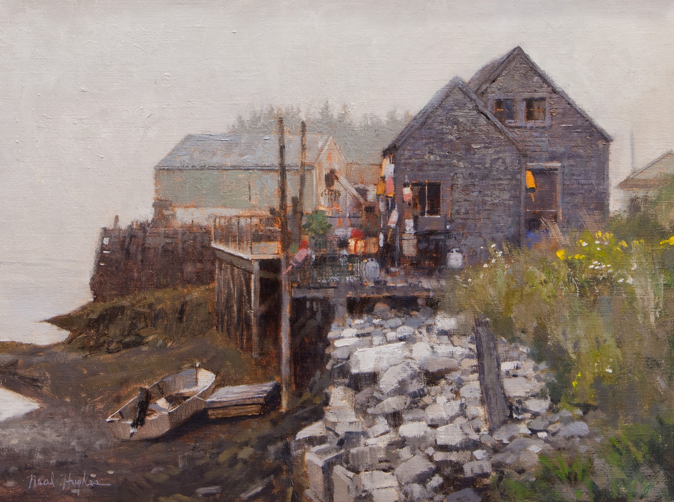 Foggy Day, Port Clyde by Neal Hughes at Sylvan Gallery