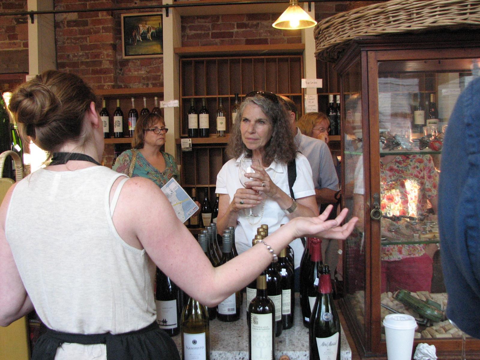 Treats wine tasting