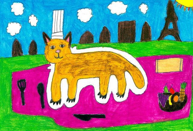 Cat painting by Barbara Welborn