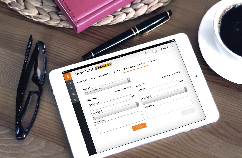 The Connected front desk - - Intake-invoer vereenvoudiging- Digitale document ondertekening- Gebruikersvriendelijke vereenvoudigde Vervangend vervoer uitgifte/inname- Checklist integratie- Document scannen/fotograferen- Key indicators, grafieken dashboard- Efficiency verbetering- Professionalisering proces- (werk) rust op de receptie