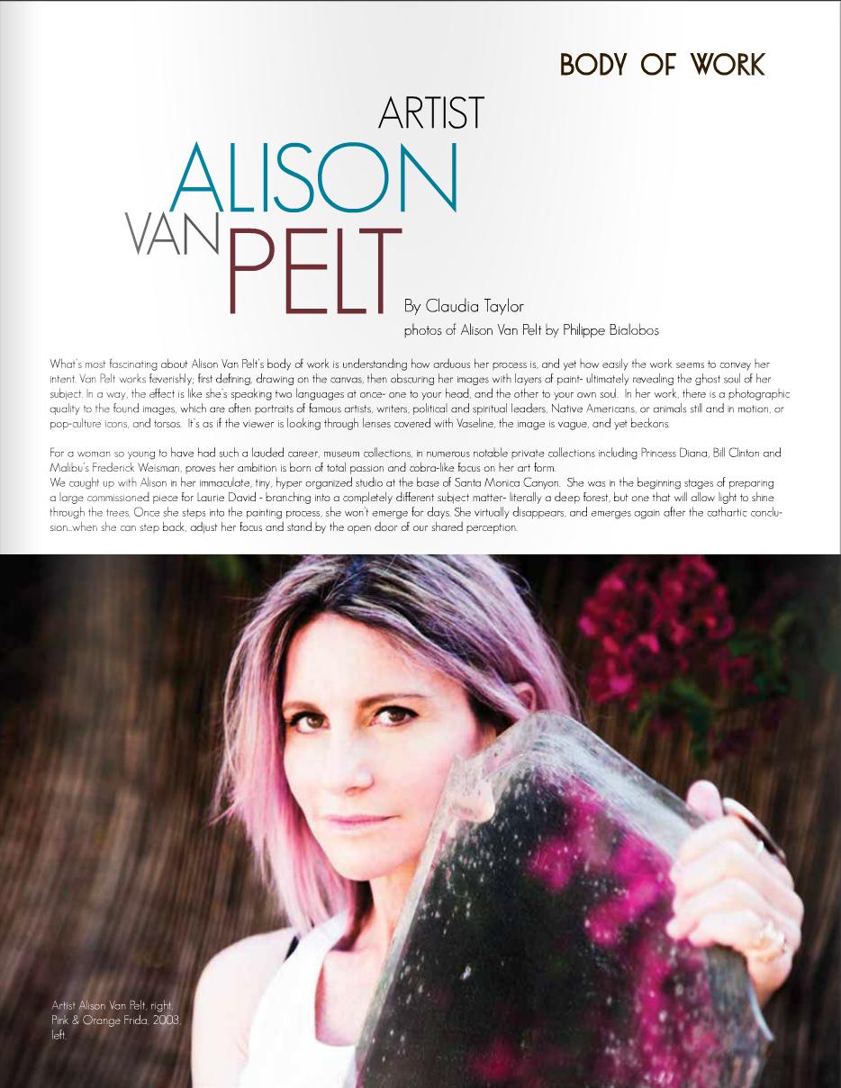 ALISON VAN PELT - MALIBU 90265 MAGAZINE