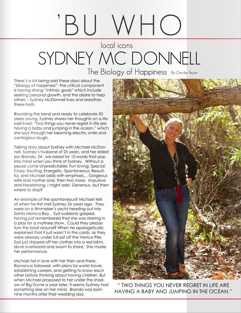 SYDNEY MCDONNELL - MALIBU 90265 MAGAZINE