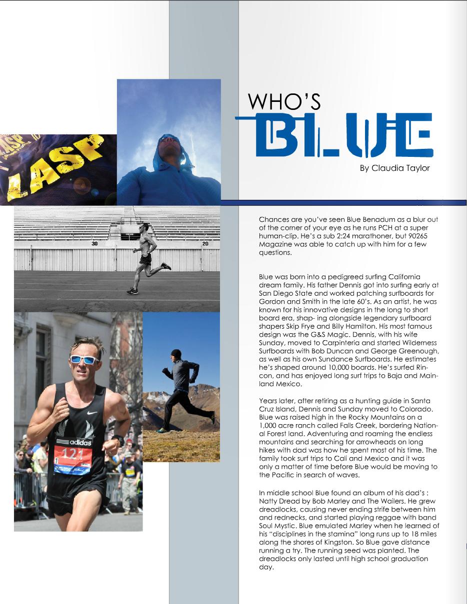 BLUE BENADUM - MALIBU 90265 MAGAZINE