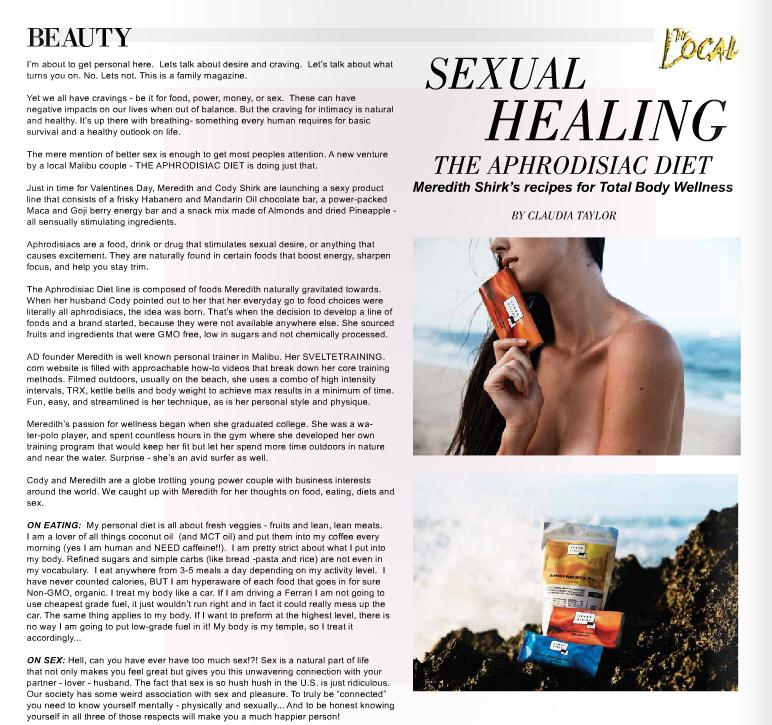 SEXUAL HEALING - MALIBU LOCAL MAGAZINE